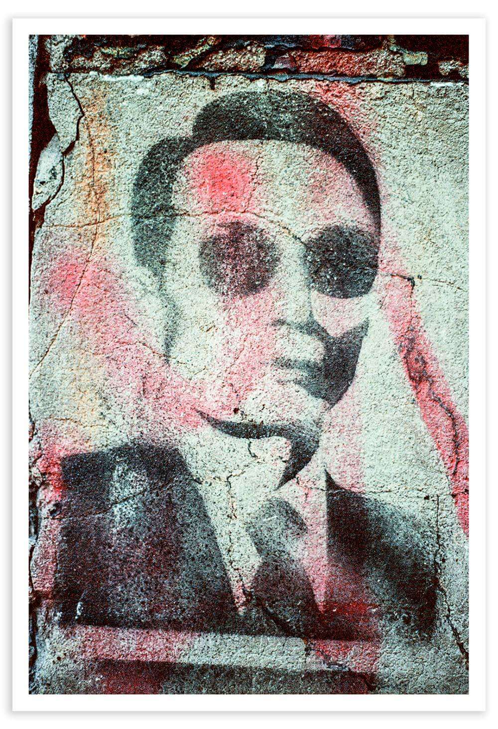 This type of stenciled street-art is so common now, but this is the first example that I remember seeing.