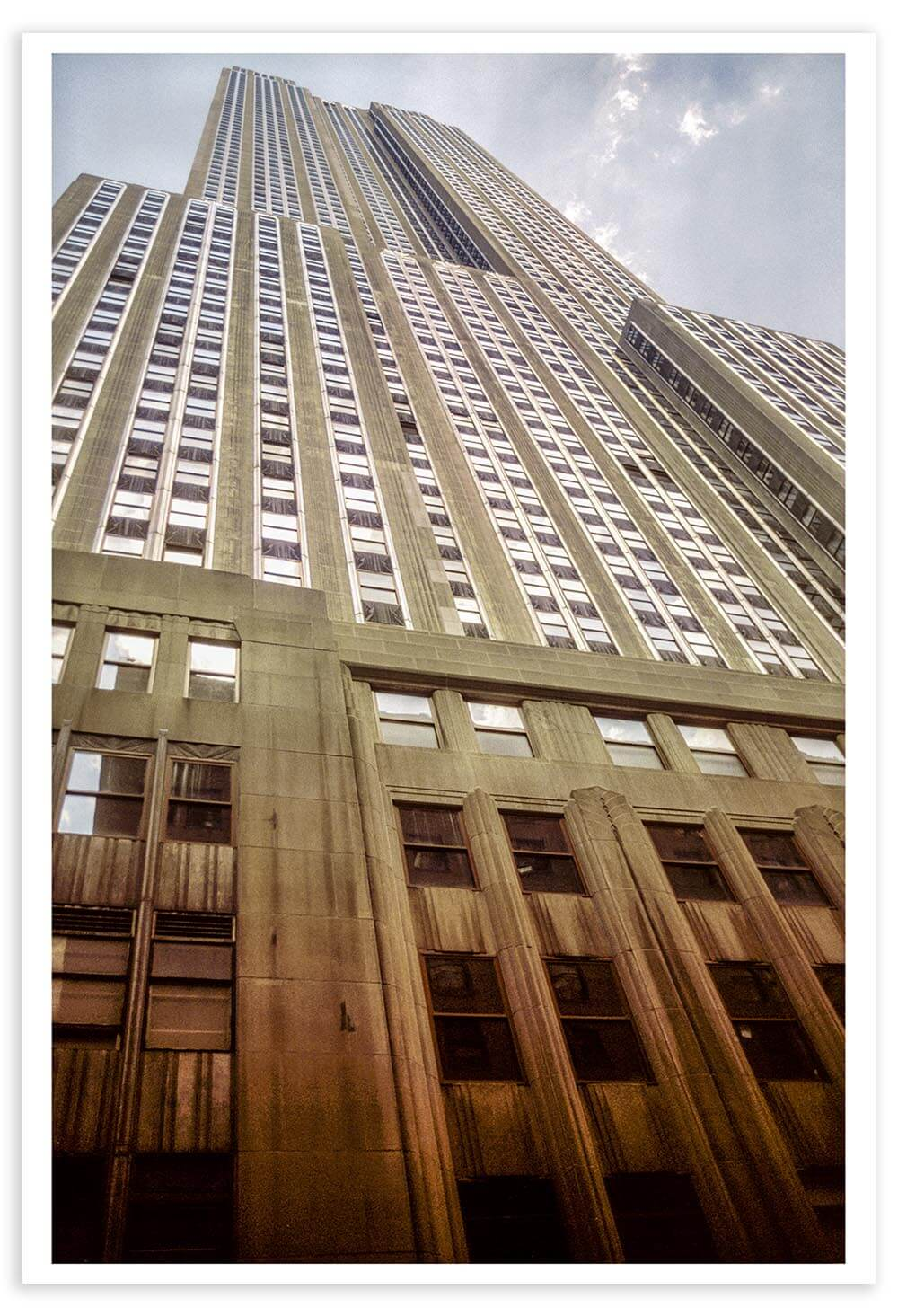 The Empire State Building, photographed on Kodachrome 25 in April 2002.