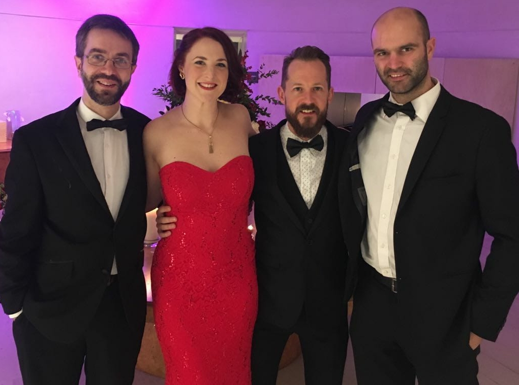 The Quartet - playing for a wedding at the National Museum of Scotland, 2017.