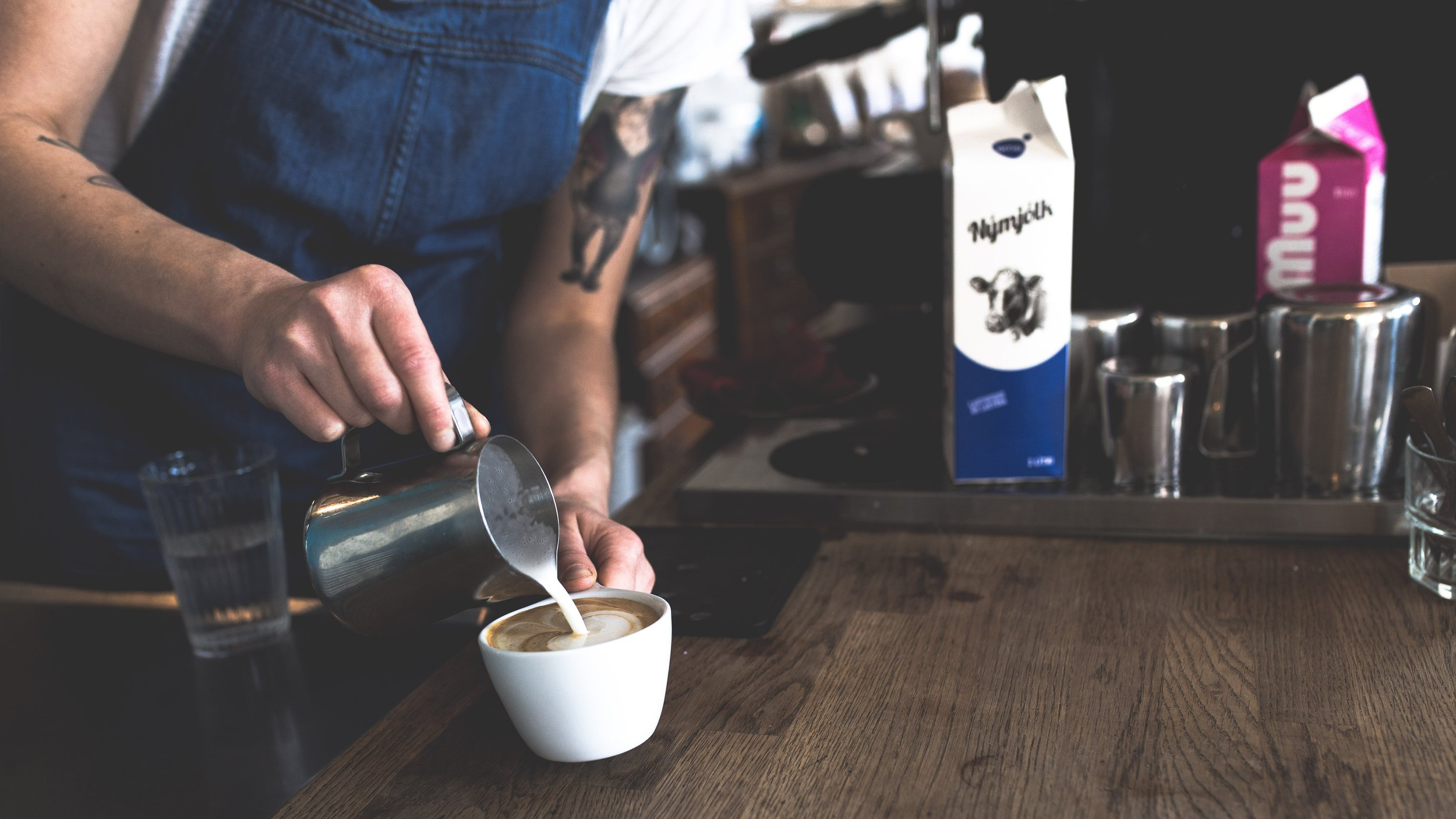 Pick up a job as a barista. This was shot in Reykjavík, Iceland by  Tim Wright  with a  Canon EOS 6D