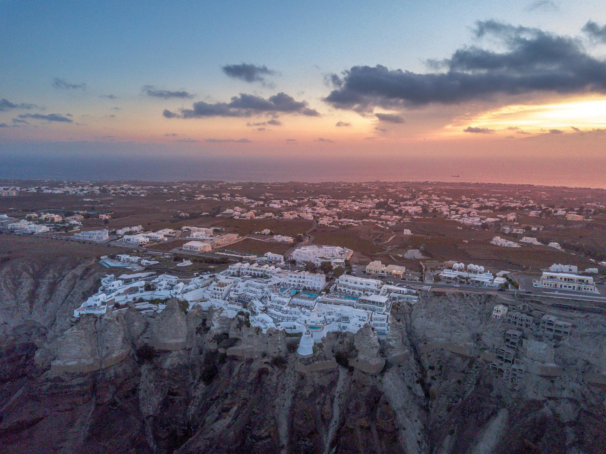 Santorini by drone