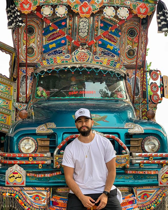 🔴Episode 2 of the Pakistan🇵🇰 vlog series is live! Go check it out - link is in the bio ☝🏼 - This episode covers day 2 of the @cpicglobal Pak Tour where the team says goodbye to #Islamabad and officially we kick off the tour of Northern Pakistan 🇵🇰 🏔 Nothing goes to plan in this one, but we make the most of it and it turns into an epic day filled with amazing food, great views, and some incredible cultural experiences. - This shot was from a quick stop we had that day. We were all fascinated with the colourful and ornate Pakistani truck art we were seeing along the way. Naturally, we wasted no time and took advantage of this parked one 📸📸📸 - - - - - #cpicpaktour2019 #pakistan #travelbeautifulpakistan #travelblogger #passionpassport #photography #travel #travelphotography #travelgram #traveller #instatravel #canon #city #wednesday #camera #adventure #instatravel #igtravel #adventuretime #travelblog #travelblogger #travelphoto #wanderlust #adventure #traveling #travelling #travellife