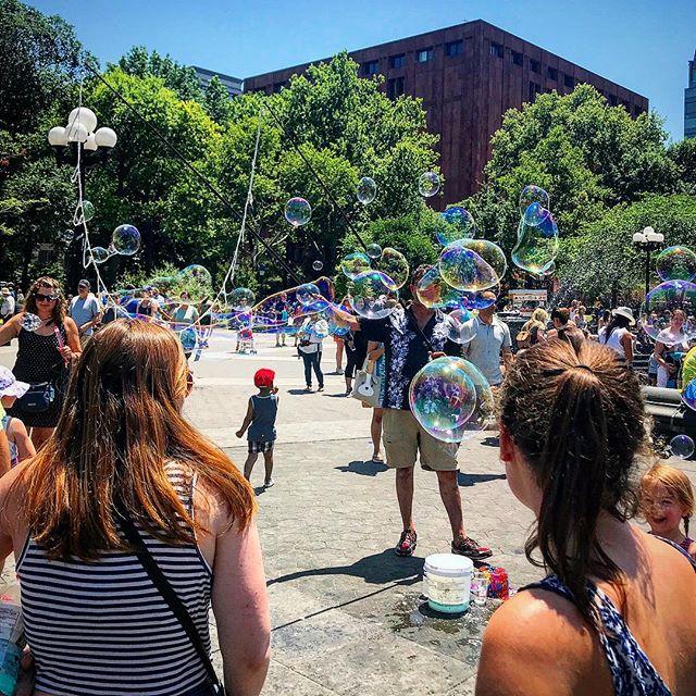 #billionbubbles #washingtonsquarepark #nyc