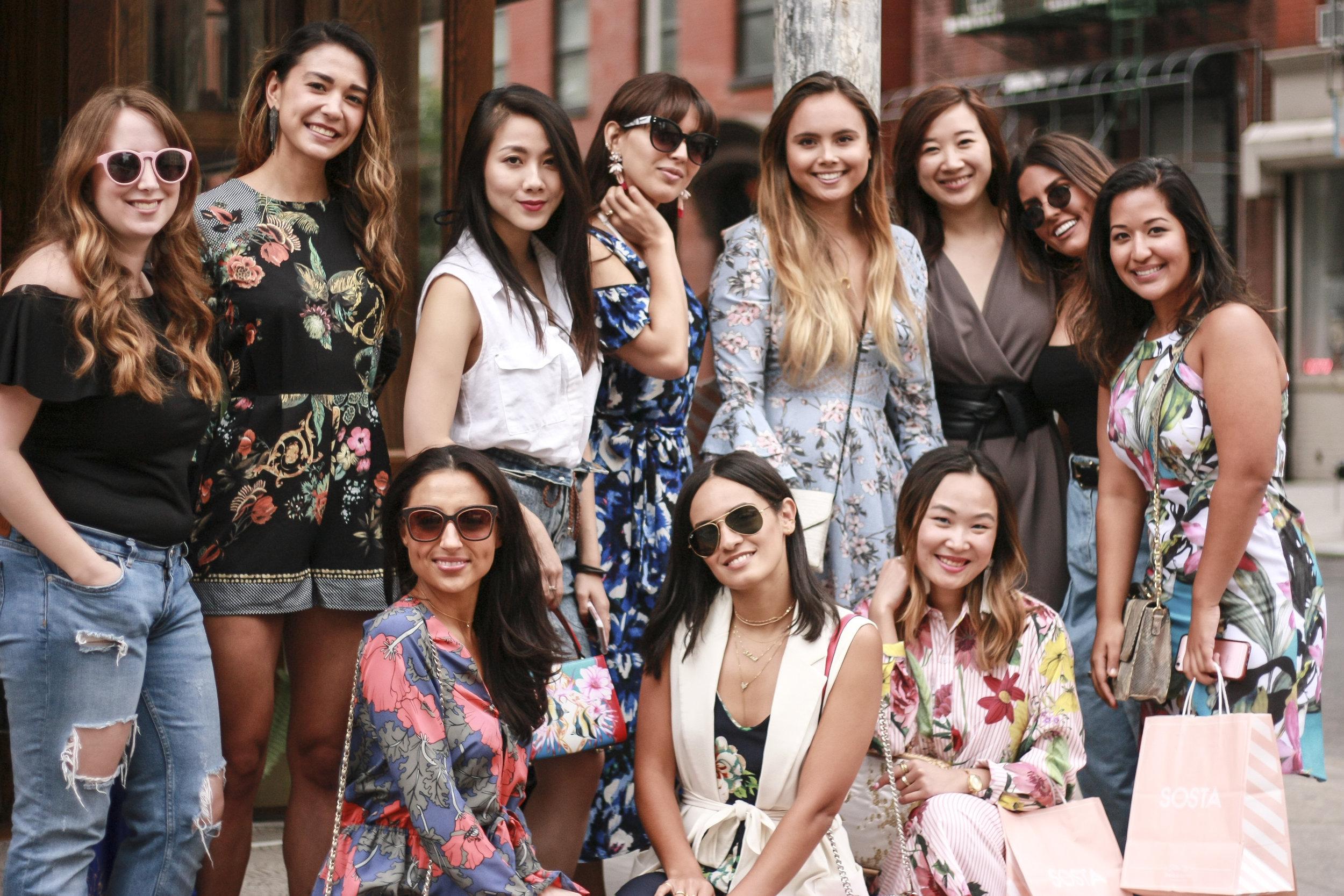 Group photo shot by Maya ( @xmaristi ) outside The Sosta.