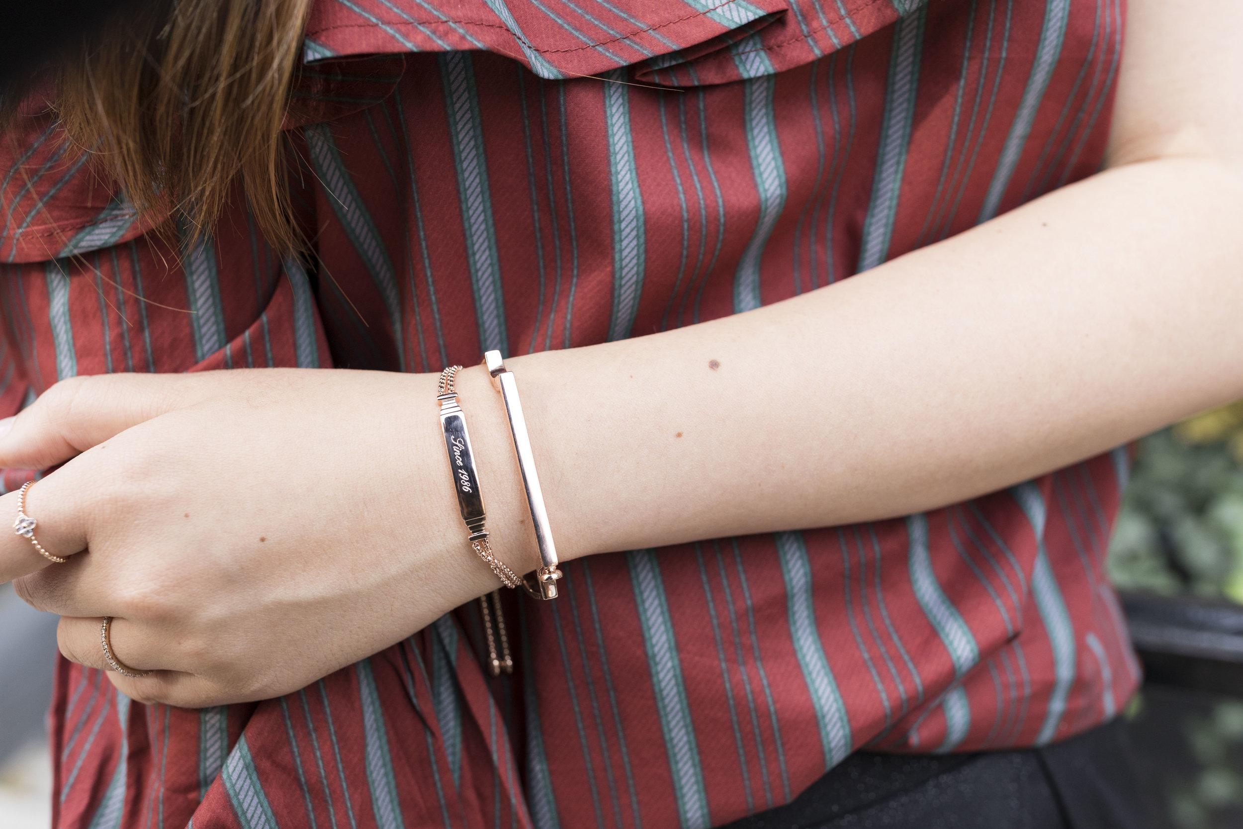 """It says """"Since 1986"""" on my bracelet; photo taken by  Ashley Gallerani ."""