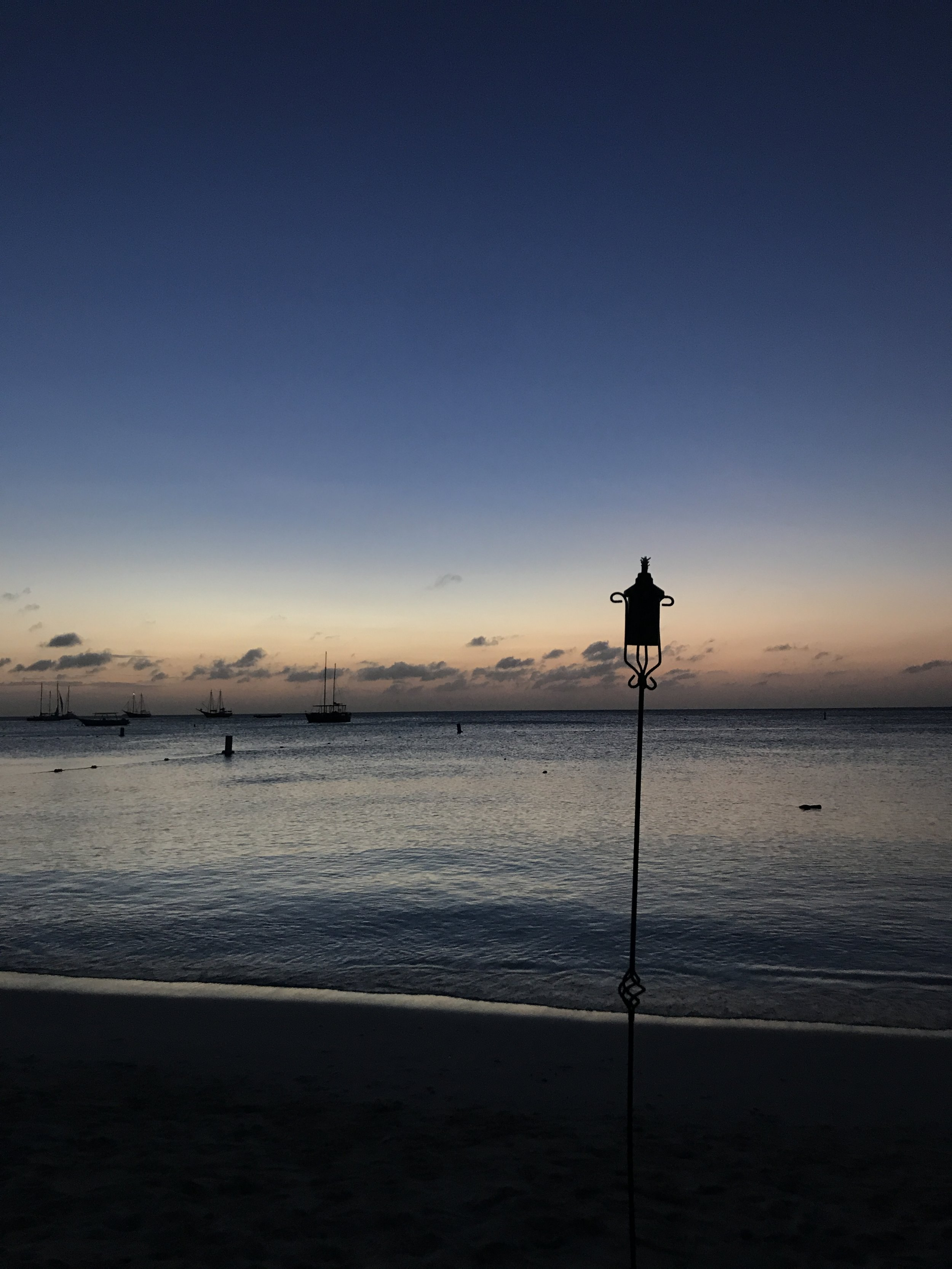 Sunset on Palm Beach, Aruba.