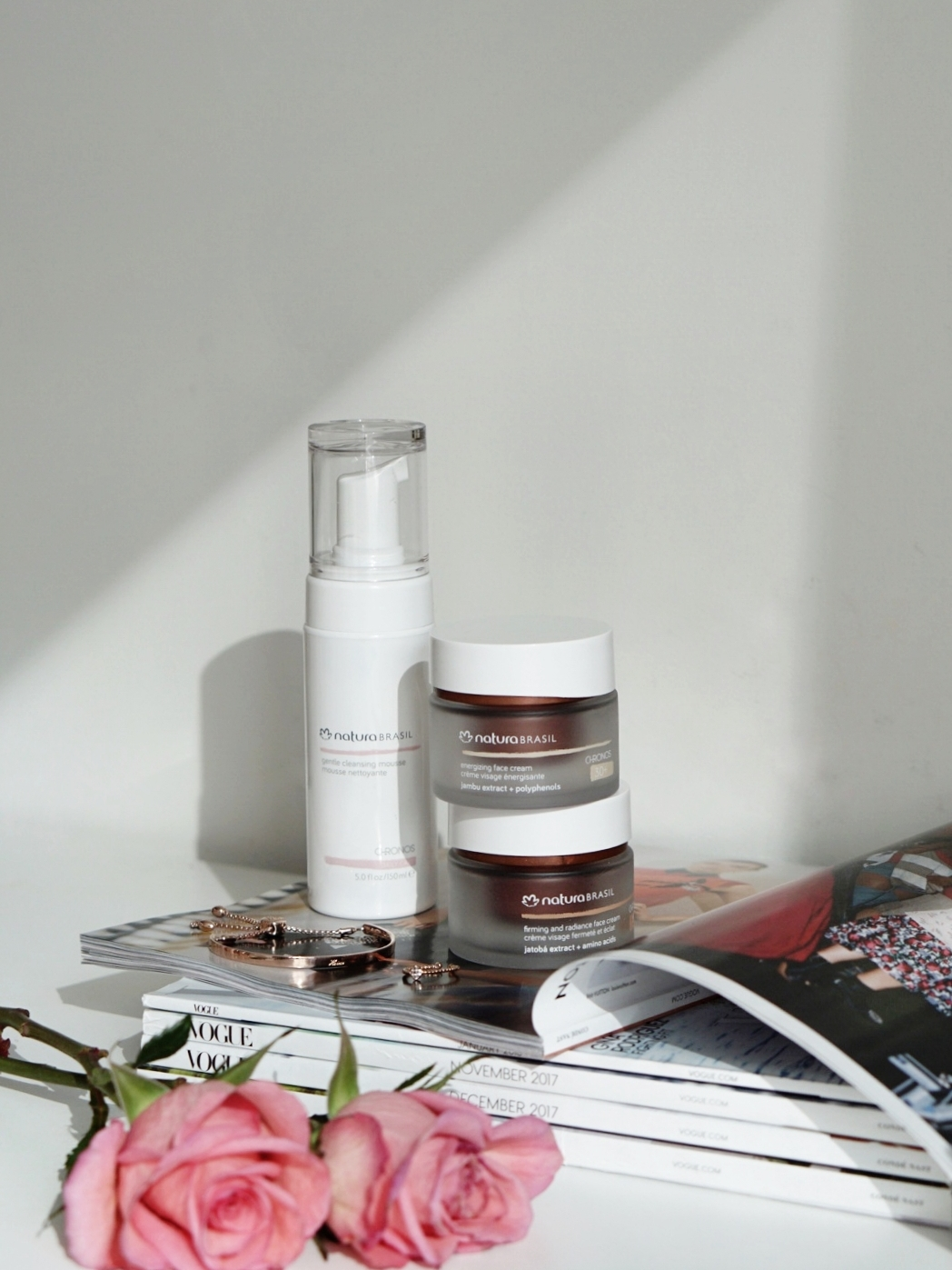Natura Brasil recently launched their skincare line called Chronos.