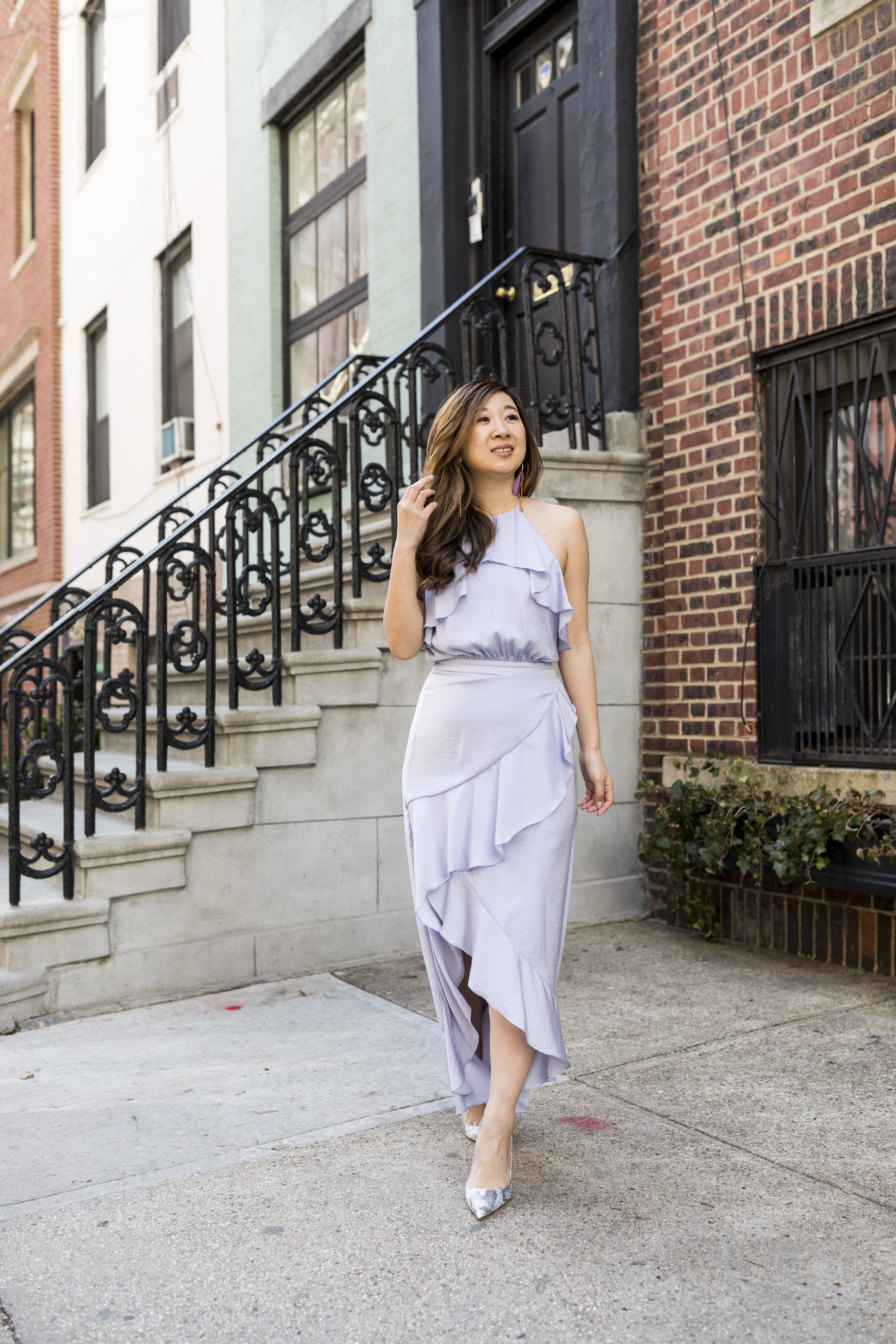 I rented this lavender dress from Rent the Runway; photo by Ashley Gallerani.