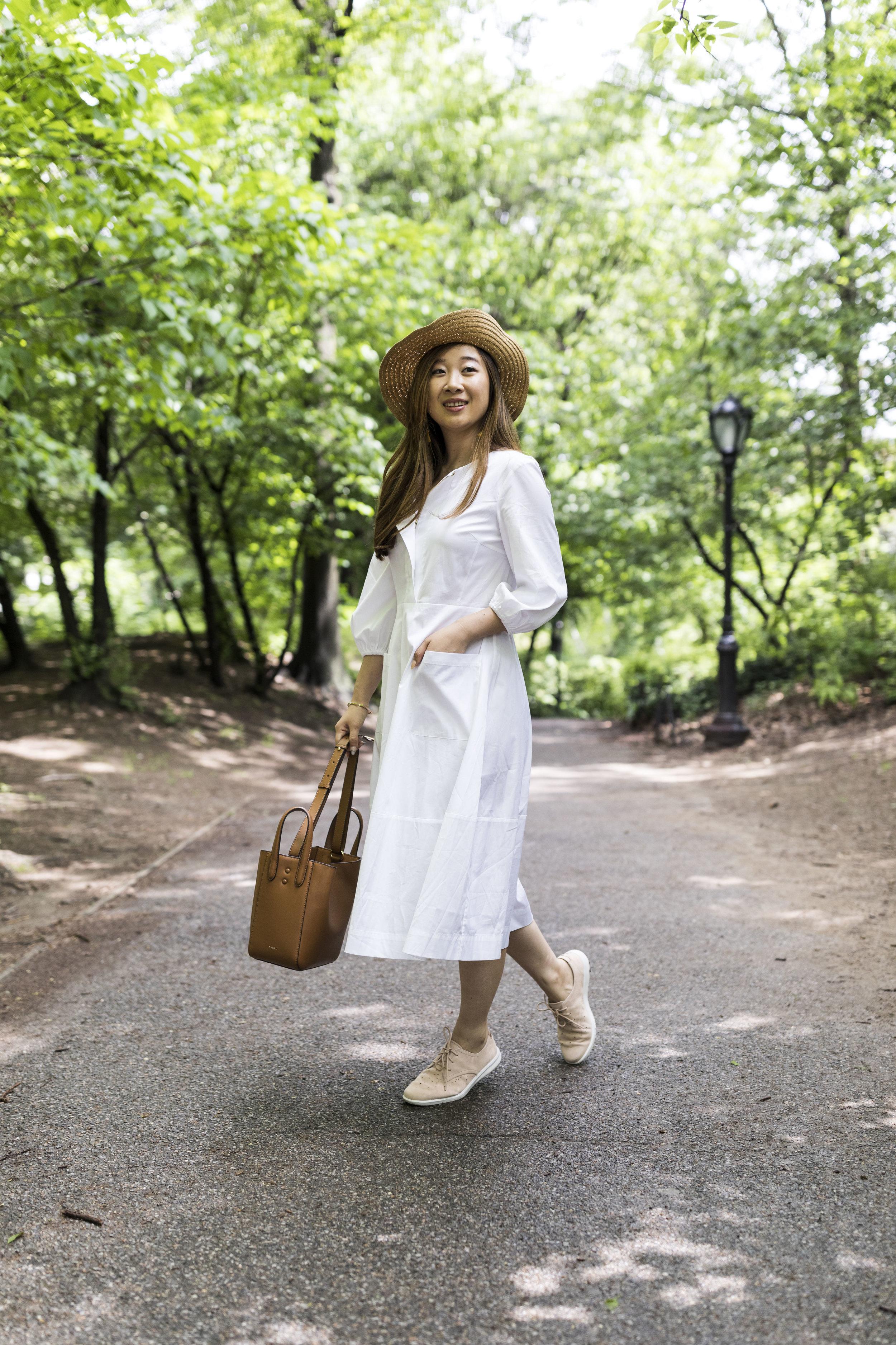 Dress:Cuyana; Bag: X Nihilo. Photos by Ashley Gallerani.
