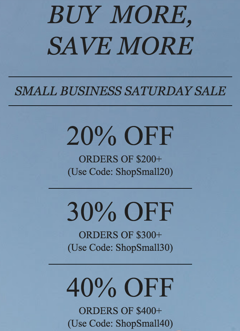 W. Cashmere is currently offering discounts on the site!