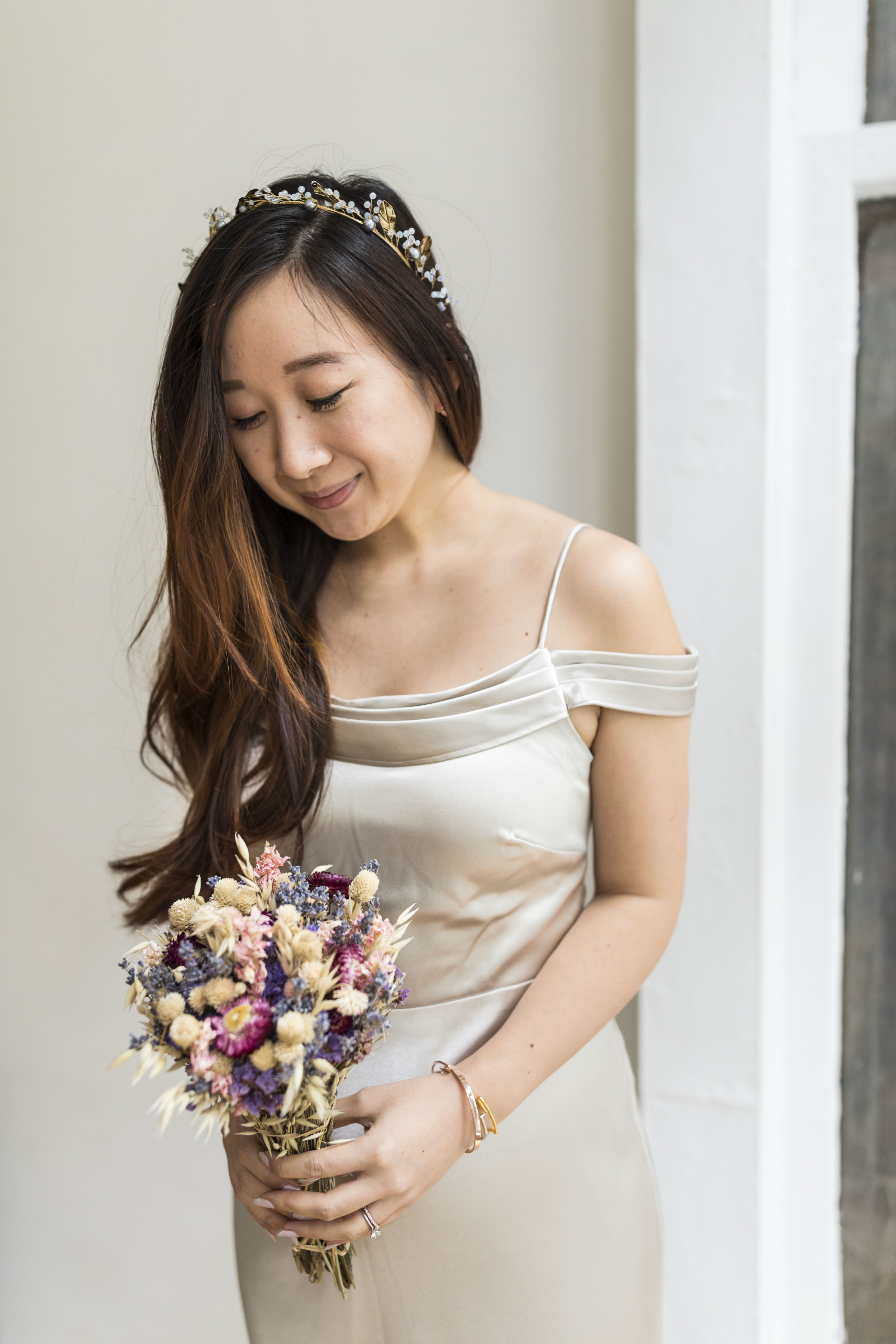 """My headband is by  Maggie Wu Studio , a handmade piece that easily """"upgrades"""" your hair style."""