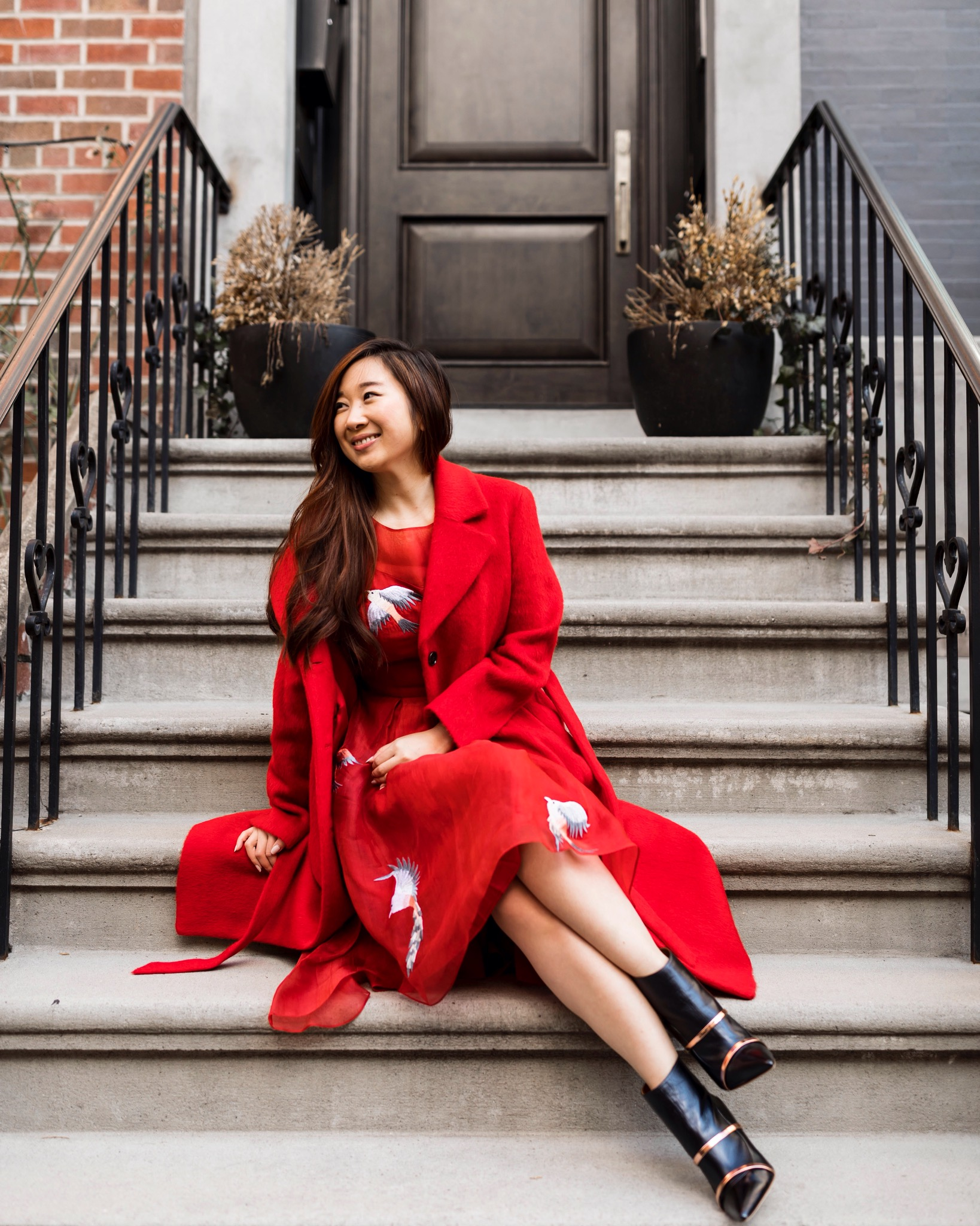 Double the luck with two layers of red for Chinese New Year; Photo by Ashley Gallerani.