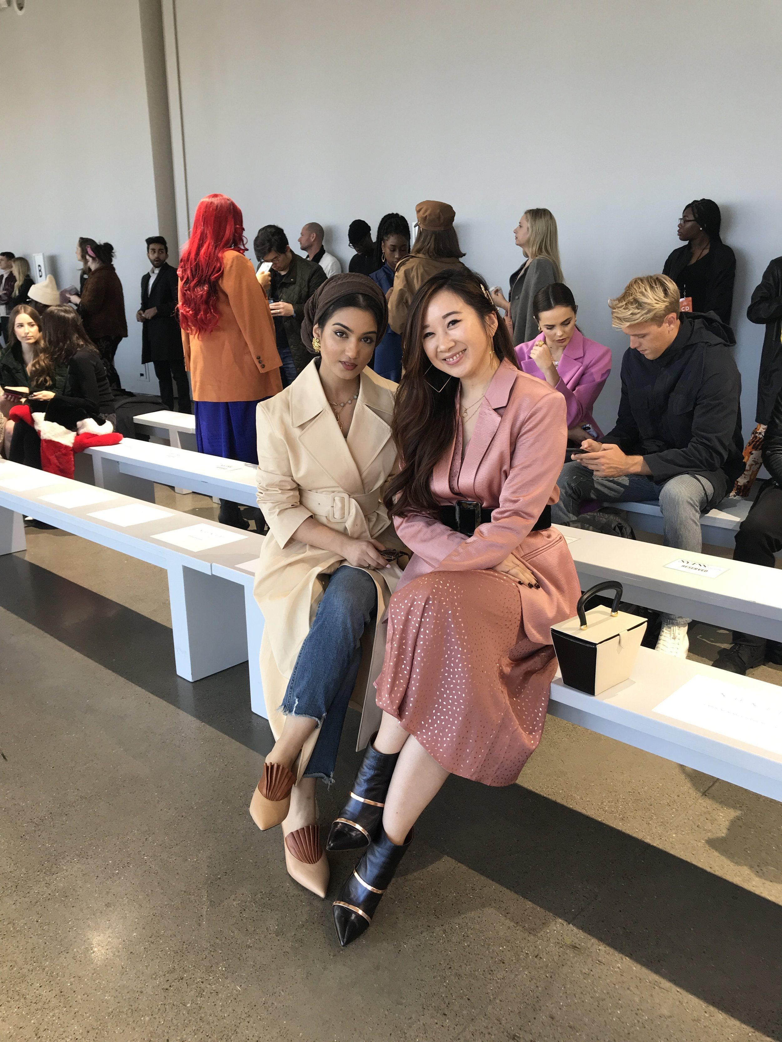 @hajra_aaa  and I before the  NONIE  FW19 show at Spring Studios.