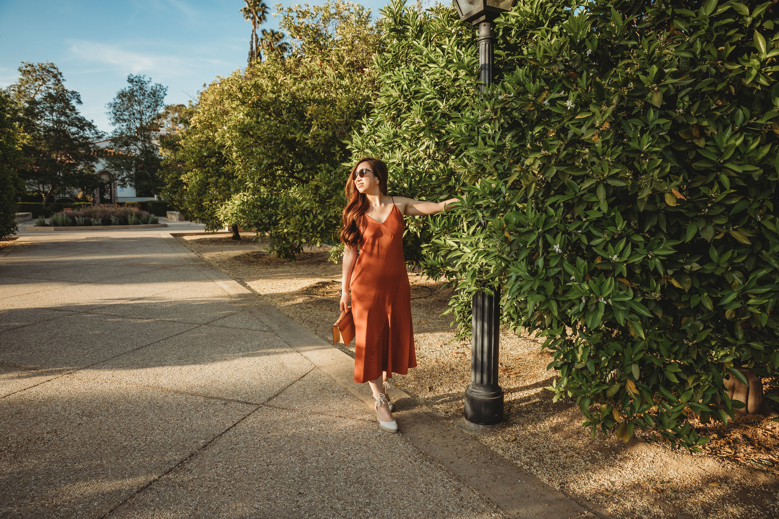 Wearing the dress as it is exploring the college campuses in Claremont, California. Photo by  Rebecca Zeller .