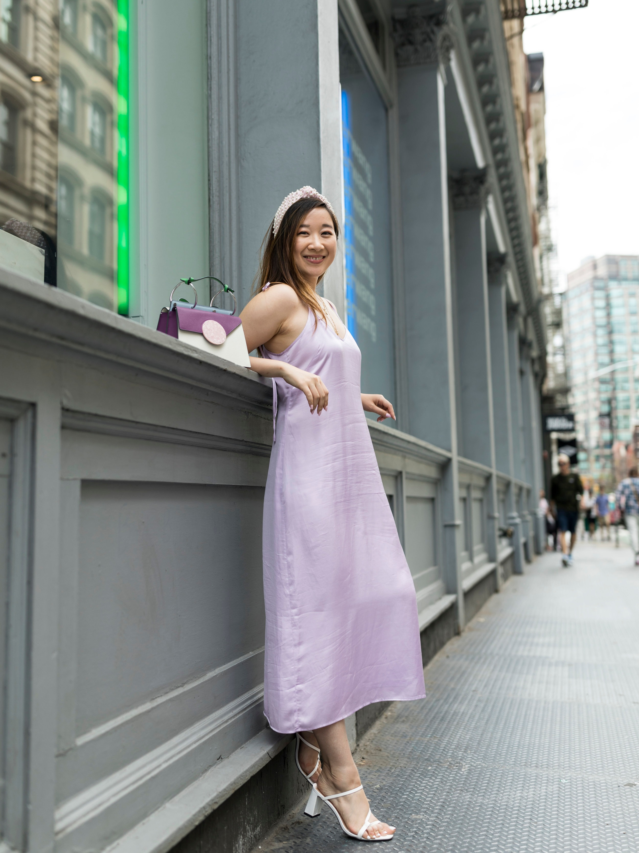 Wearing the lilac dress as it is. Photo by  Ashley Gallerani Photography .
