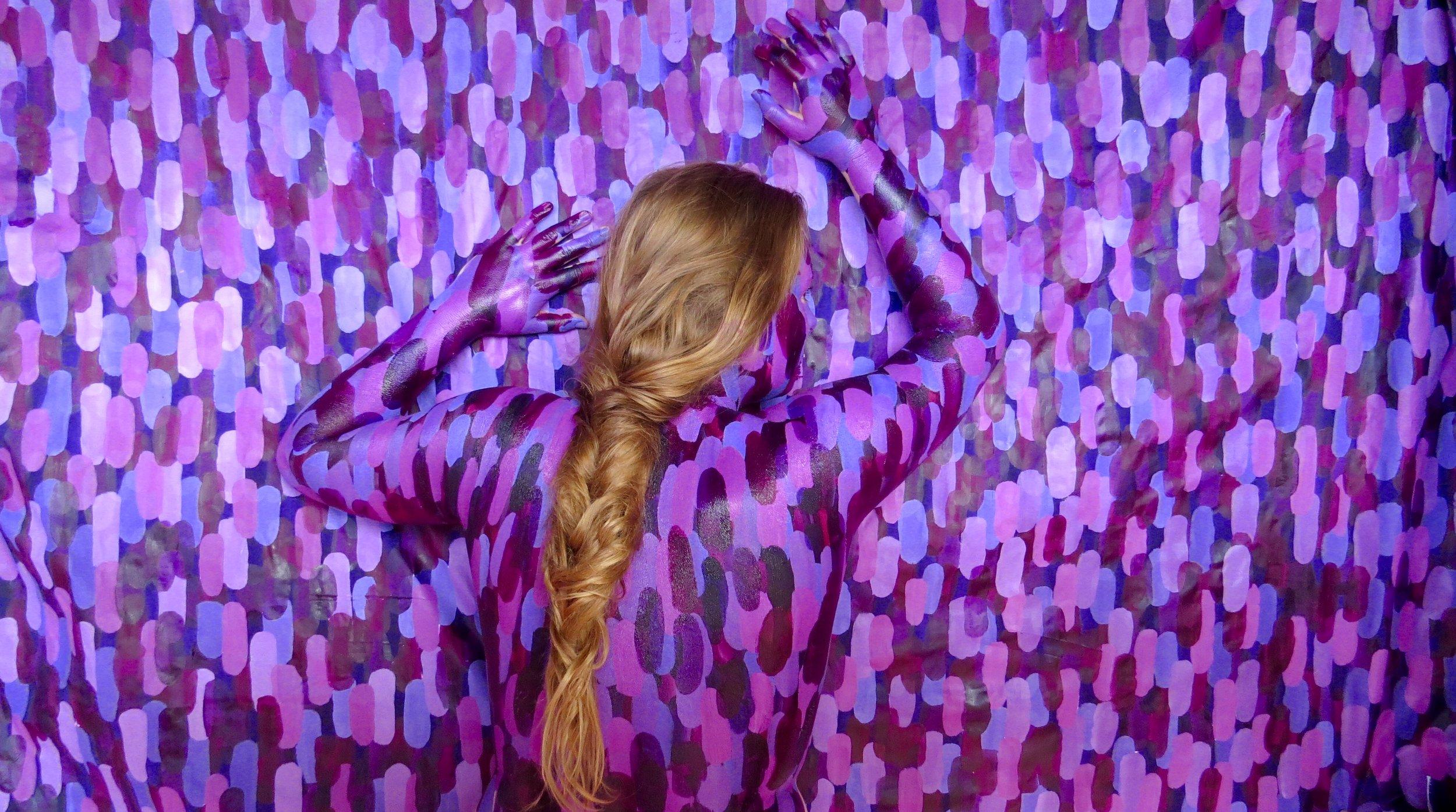 Jenna Camilleon Pt. II, Photograph of Acrylic on Fabric and Skin, 2016