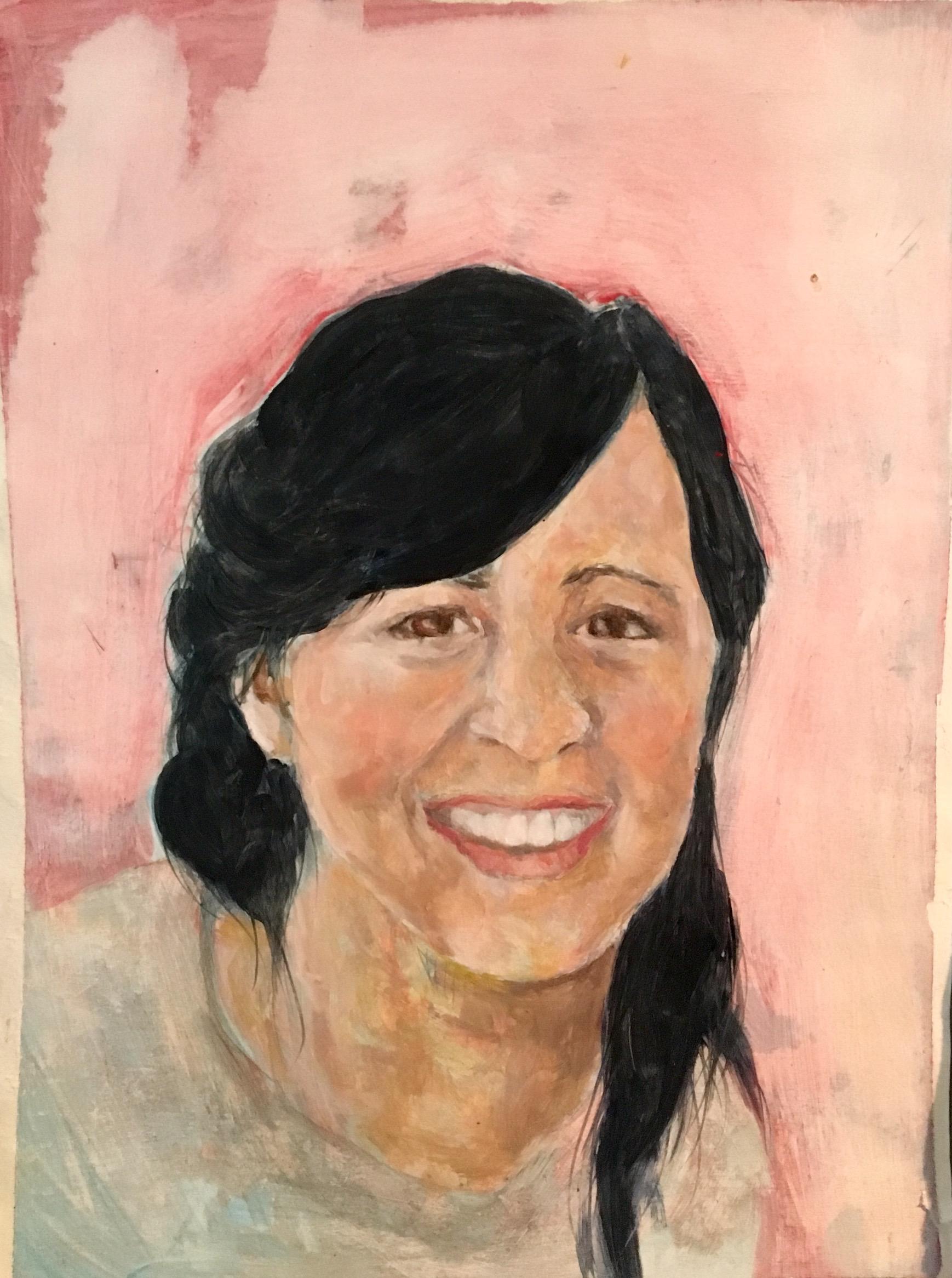 Emma Jay,Oil on Paper, 2016