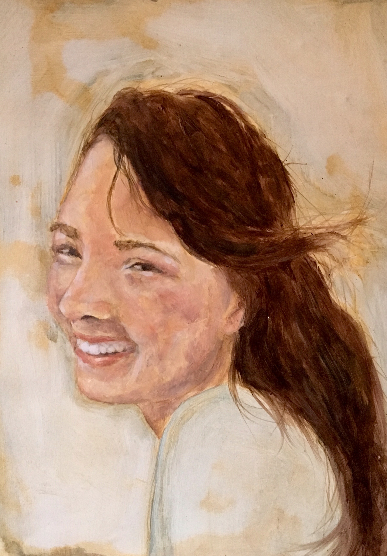 Anna Eileen,Oil on Paper, 2016