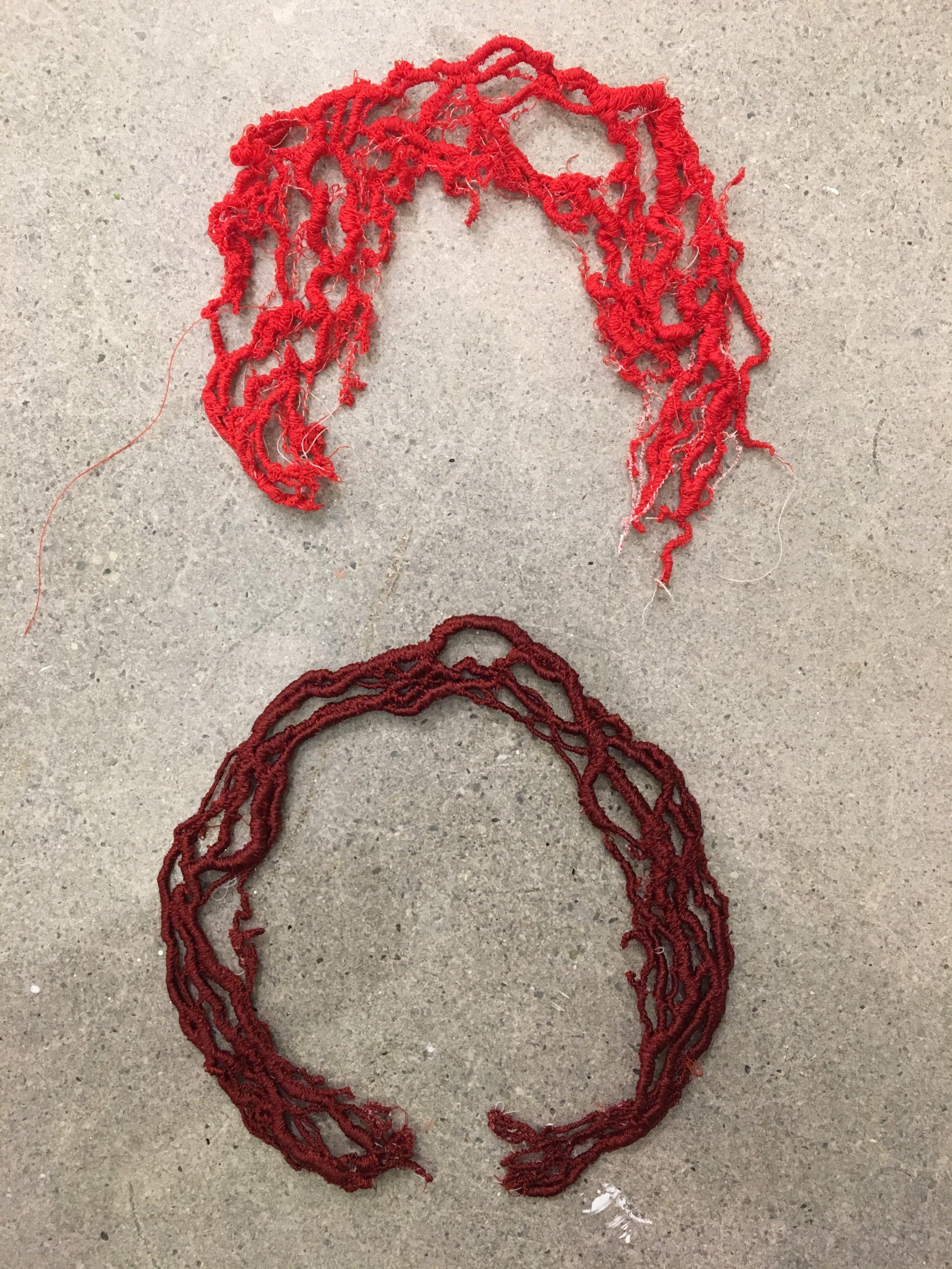 Vein, Machine Embroidery, 2018