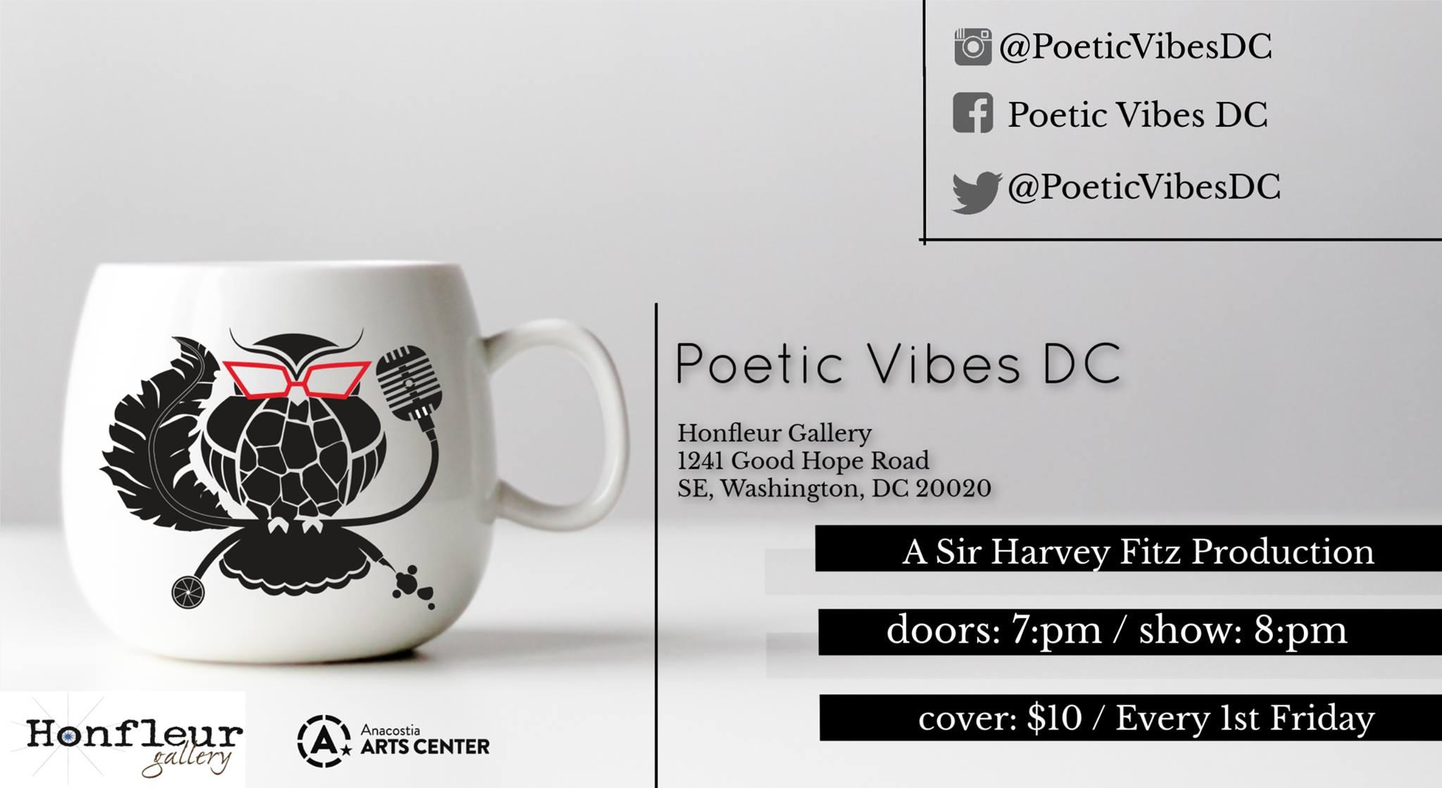 MY PICK! Jan 4 | Poetic Vibes DC @ Honfleur Gallery