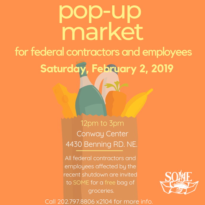 Feb 2 | S O M E  Pop-Up Market for Federal Contractors + Employees