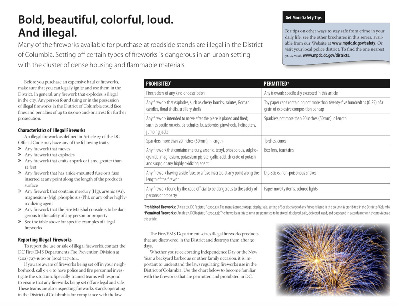 What you need to know about setting off fireworks in DC