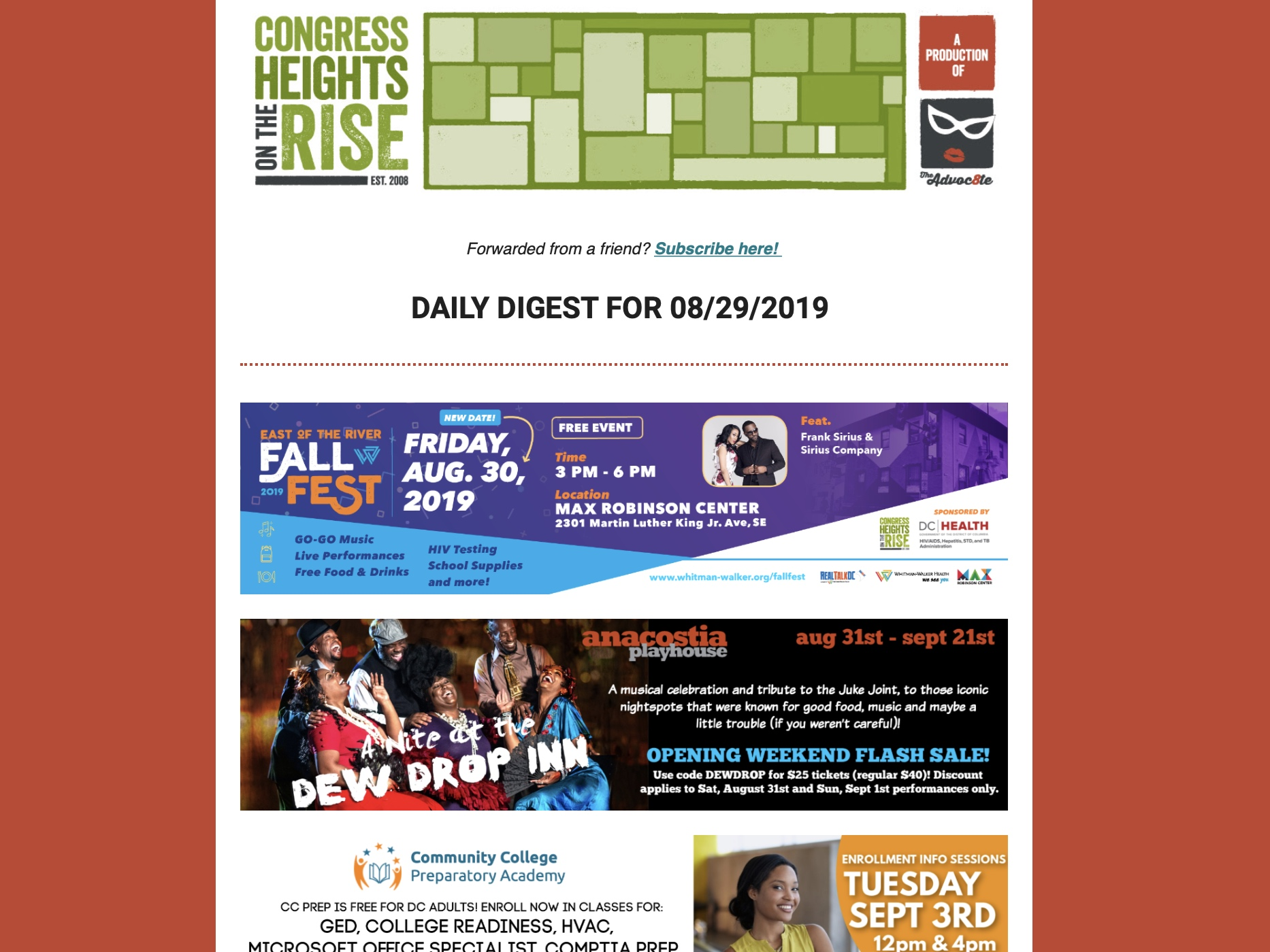 CHotR's Daily Digest goes out 7 days a week