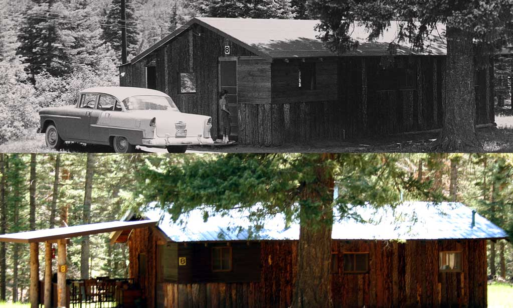 While we now offer much-improved amenities Corkins has kept the same rustic character of its early years. The older cabins have been carefully restored to their simple, direct architecture, and new additions have been designed in keeping with the original work.