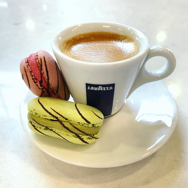 Cozy up to this weather with an espresso and eclairons, a one of a kind combination of an eclair and macaron.