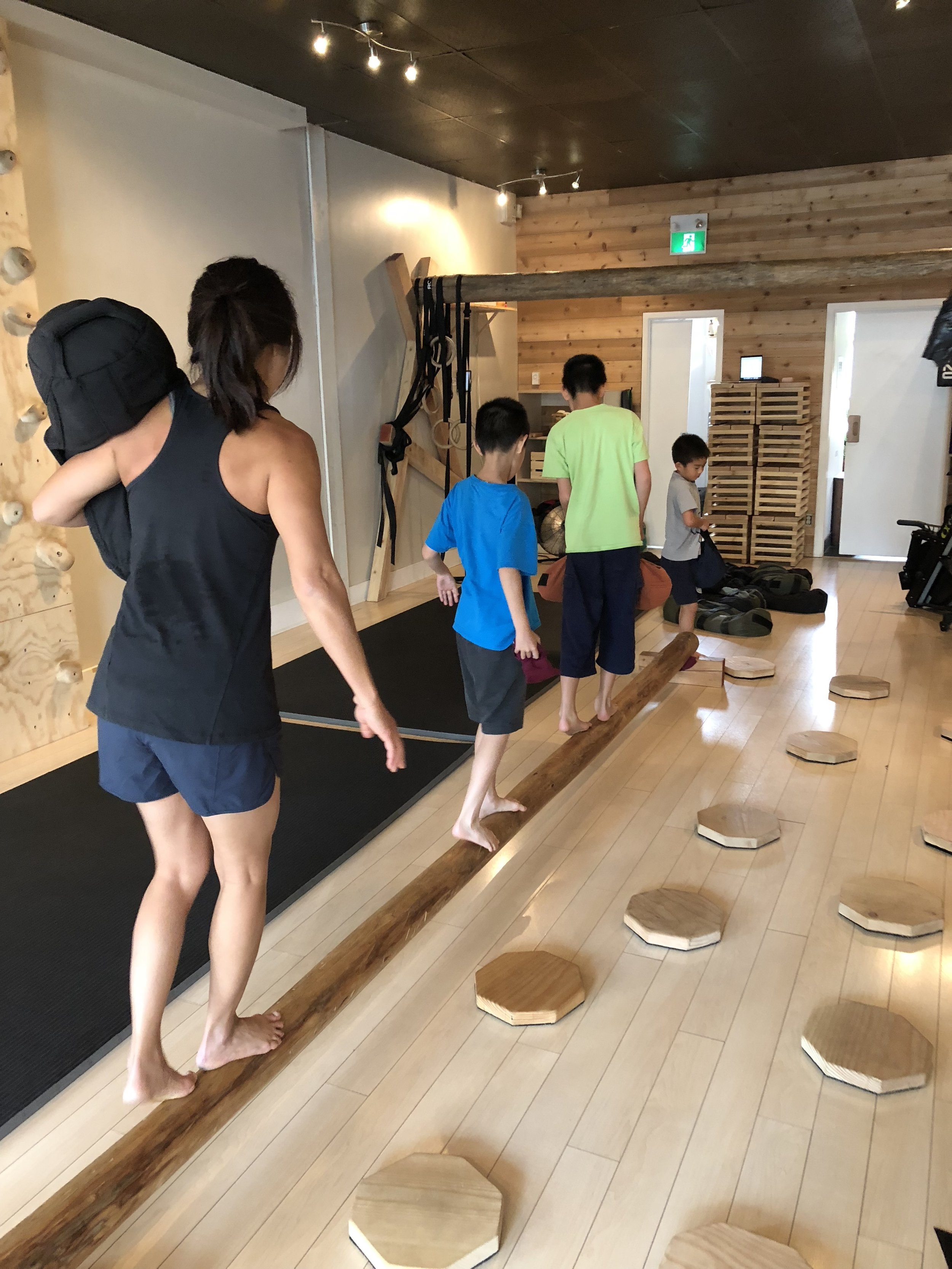 Influencing her three boys to value healthy physicality