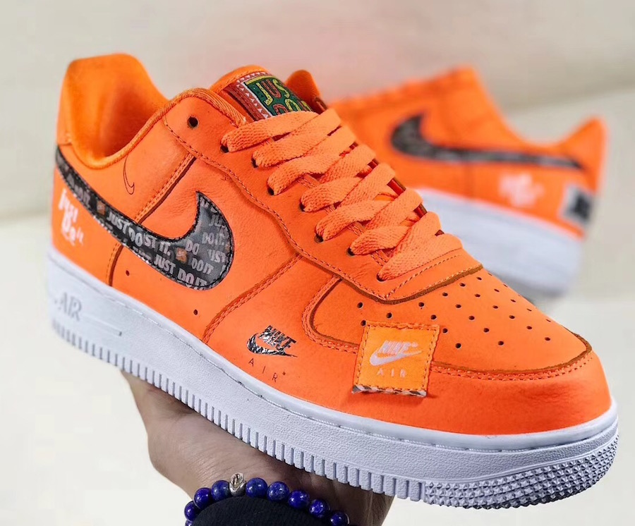 """THE NIKE AIR FORCE 1 LOW """"JUST DO IT"""" IN ORANGE — iLL Sneakers ..."""