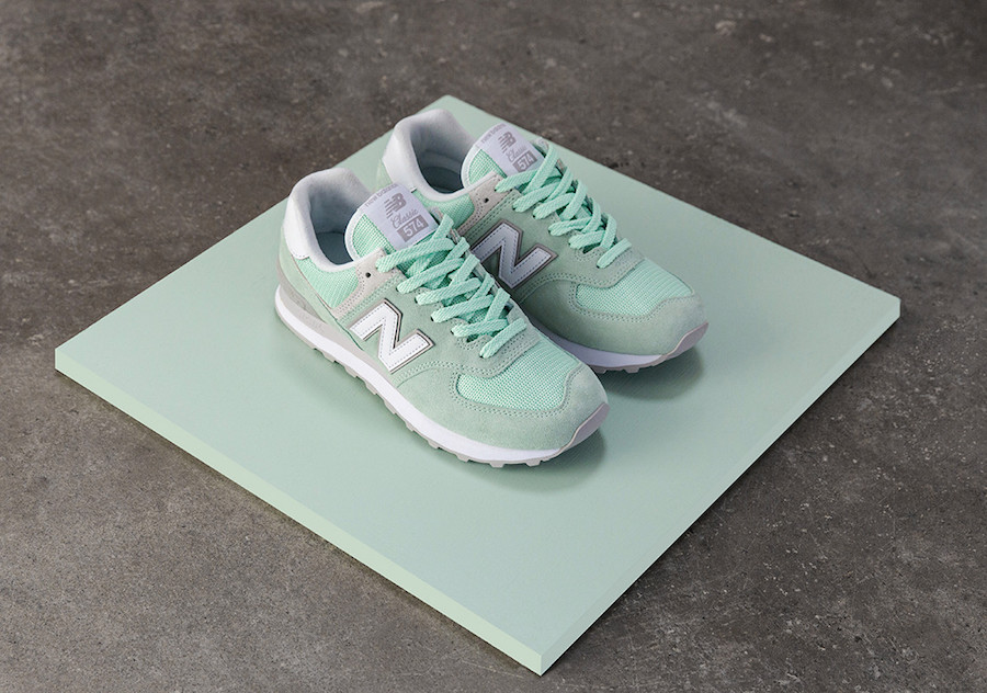 new balance 574 donna verde