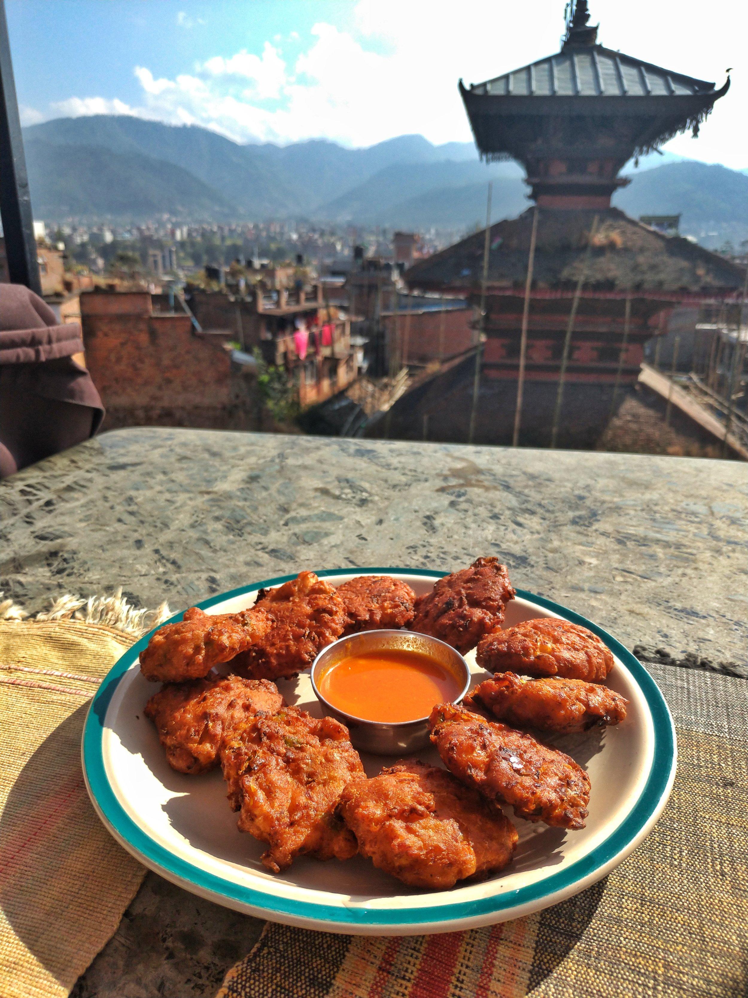 Veg Pakora in Bhaktapur