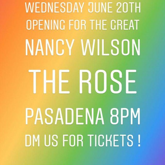 See u there! #therosepasadena #livemusic #pasadenacitycollege #pasadena #stolenthunder #nancywilson #rocknrollpasadena #wheremusicmeetsthesoul