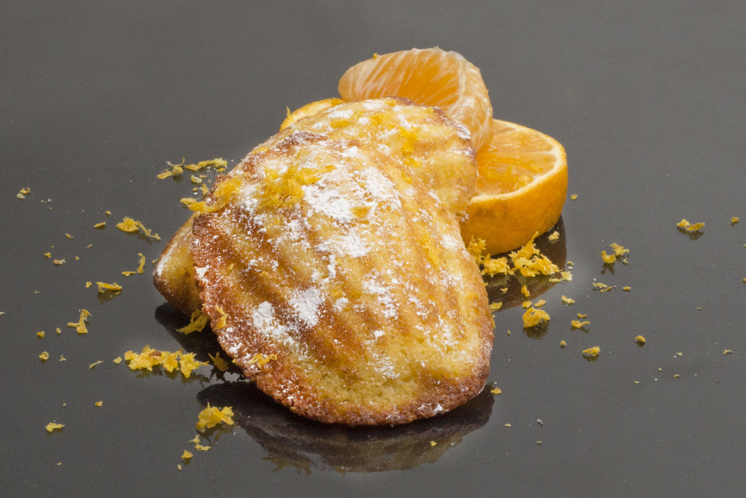 ORANGE CORNBREAD MADELEINES