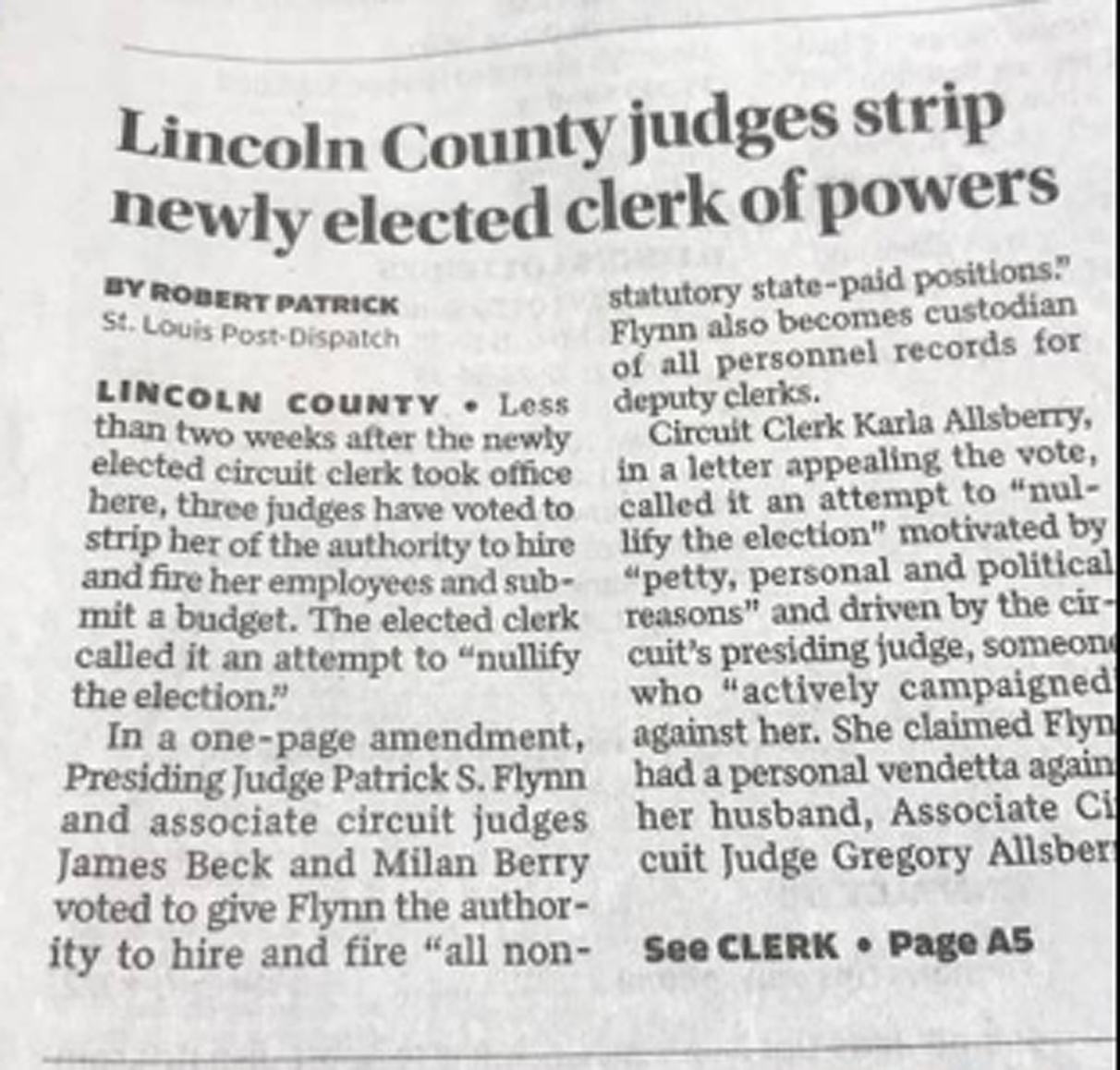 From the Lincoln County Journal. Go pick up a copy while quantities last.