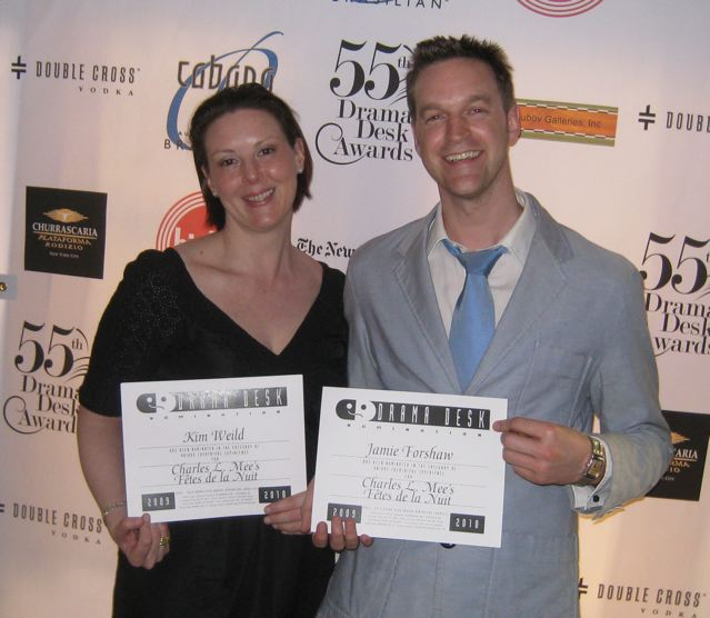 Kim and producing partner Jamie Forshaw