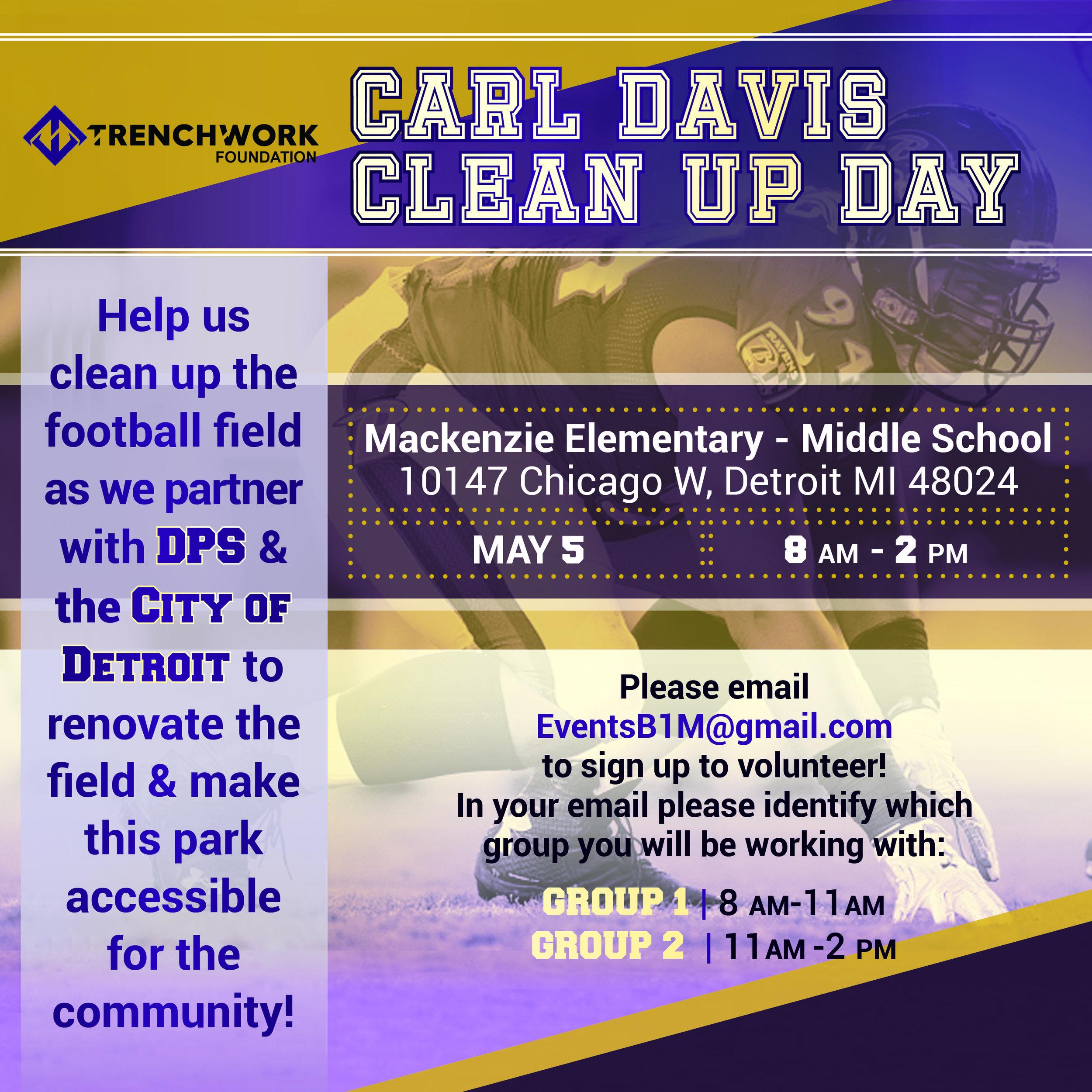 Carl Davis Clean Up Day