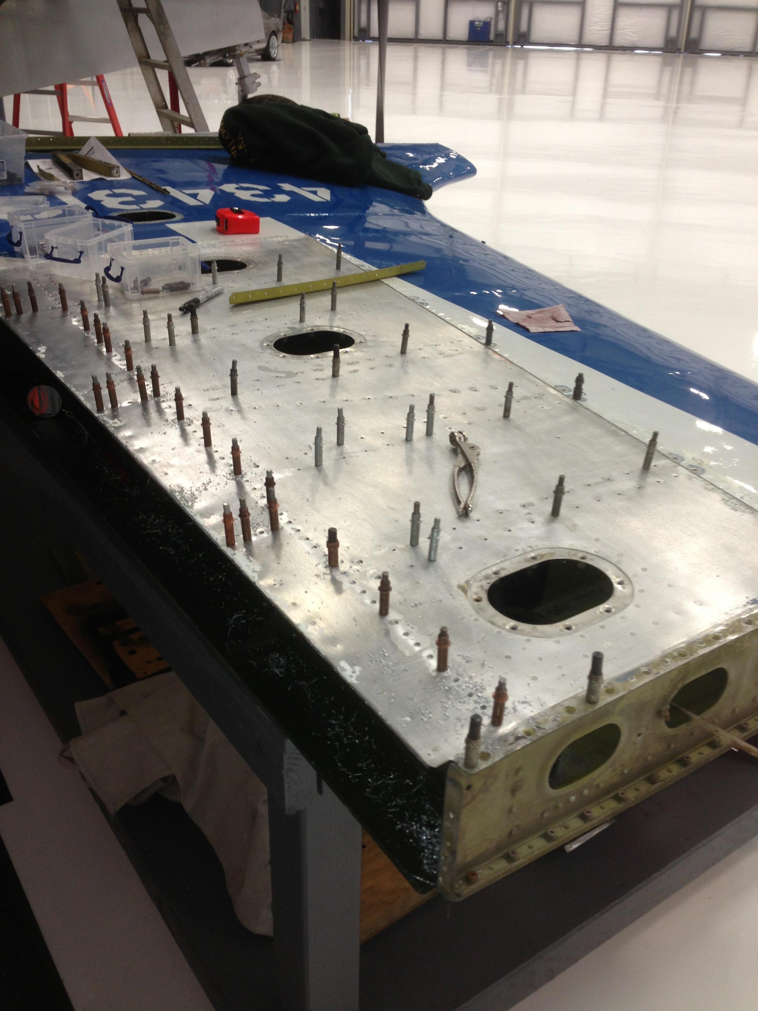 Vertical stabilizer repair