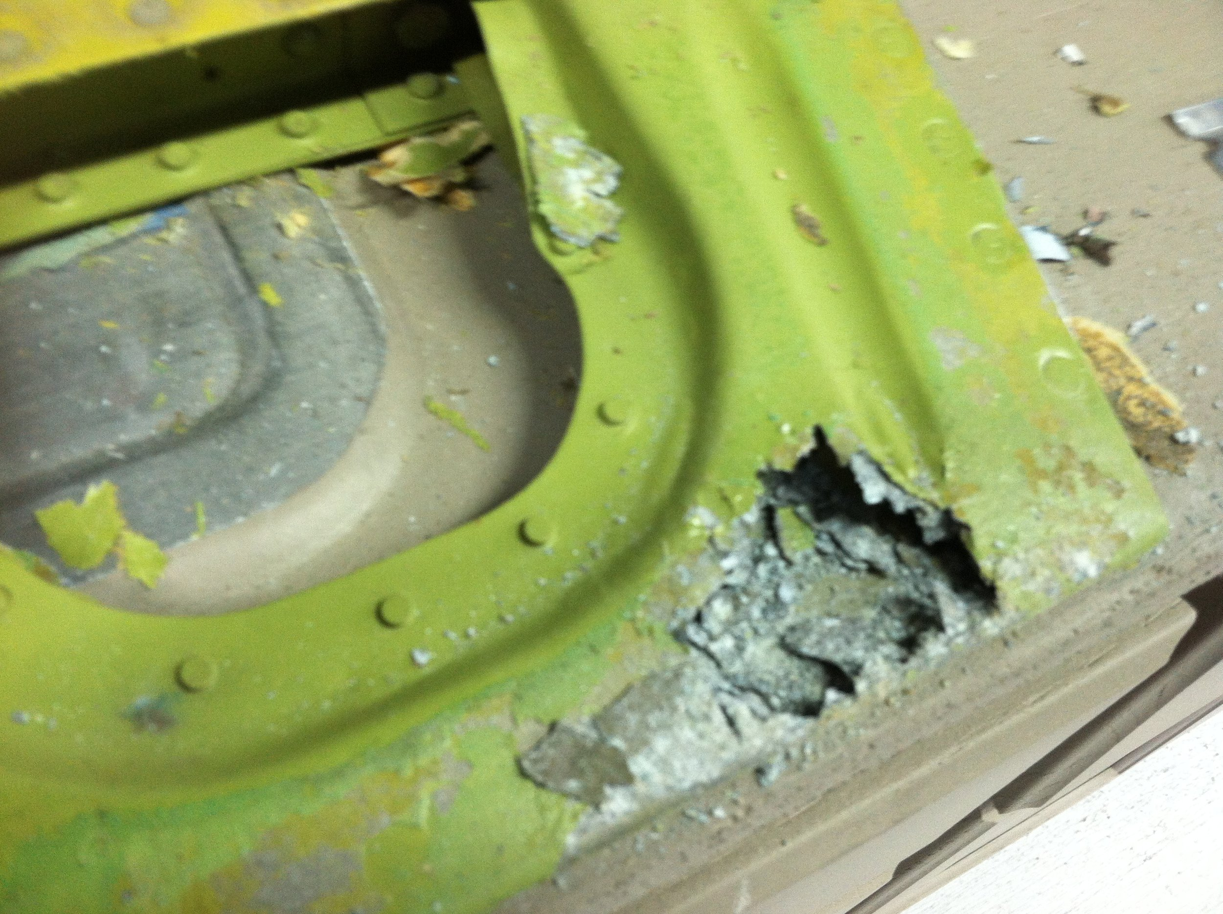 The left elevator trim tab was corroded badly. We replaced it with a NOS tab that was still covered from 1953. We put fresh Poly Fiber on it.