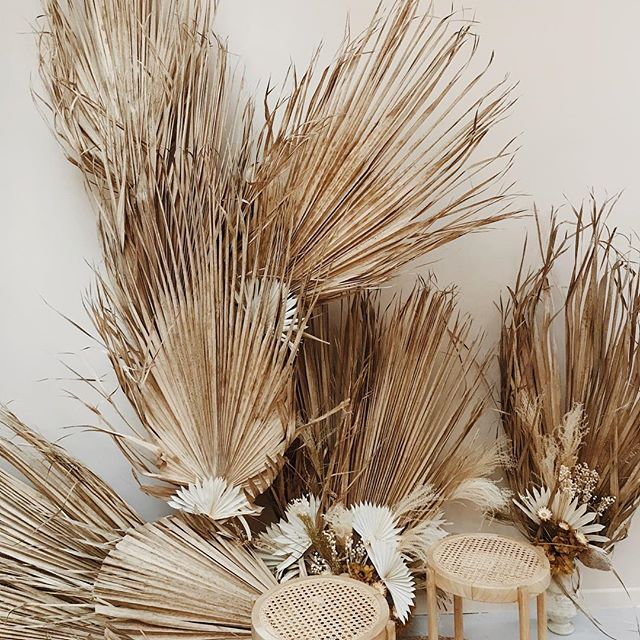 Palm Photobooth pour @louyetuparis 💛✨ . . . . . #driedflowerdecor #palm #palmleaf #driedflower #atelierprairies #photobooth #bohostyle