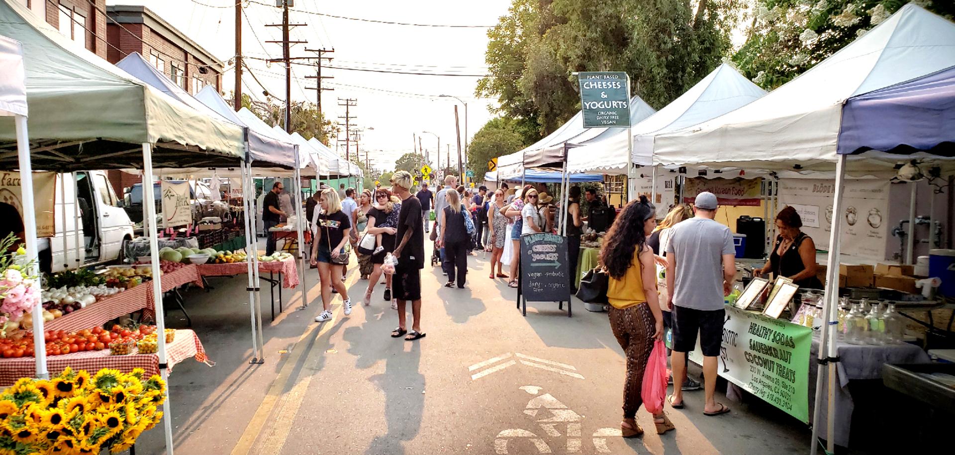 South Pasadena Certified Farmer's Market located at 906 Meridian Avenue, South Pasadena