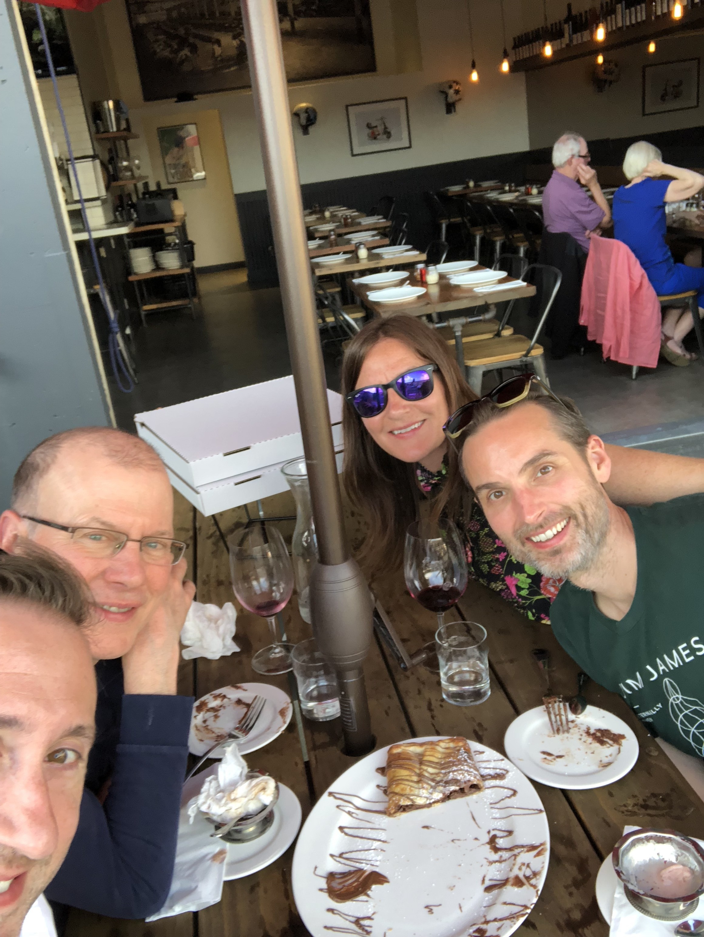 4 Happy People! - Even dessert was incredible!