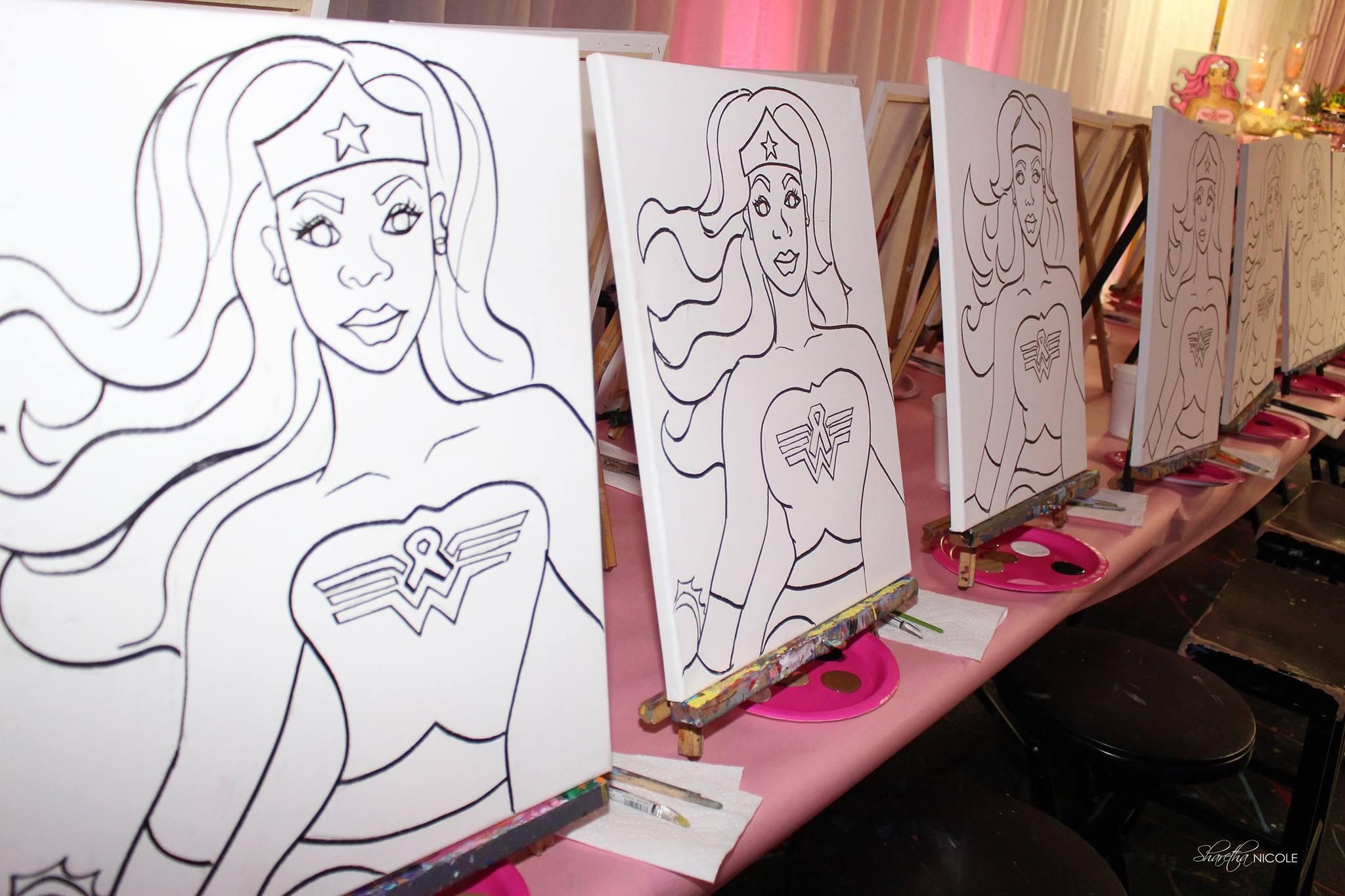 Wonder Woman Paint Party