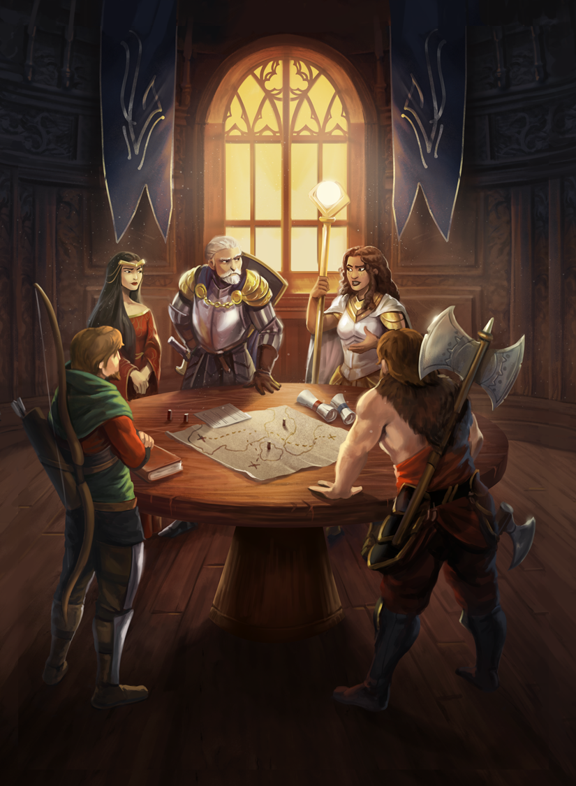 The Council meets to discuss war plans before the battle! -