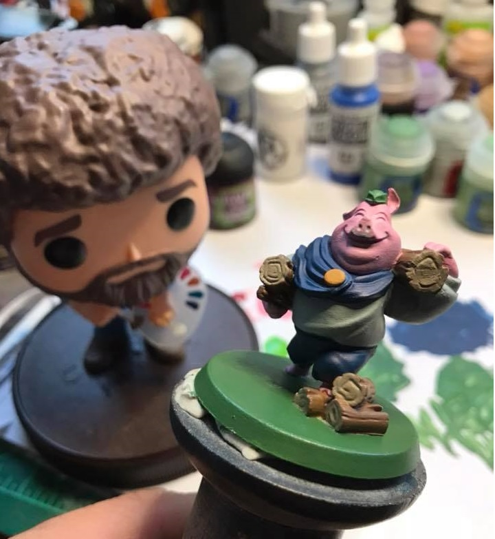 Your figure is completely base coated. If you want, you could call your figure done. There is no substitute for a good, clean base coat. Just be sure to protect your model wish a matte varnish. For those looking to go a little further, keep following along.