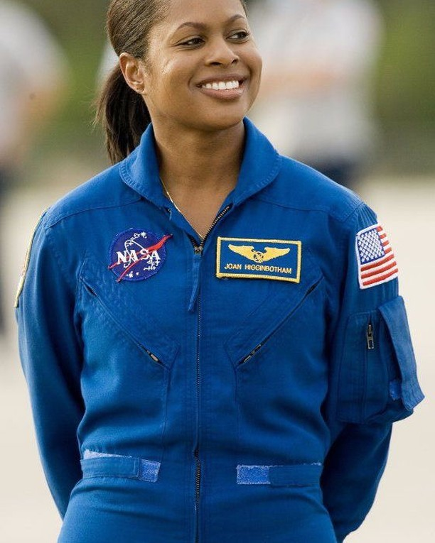 Joan Elizabeth Higginbotham (born August 3, 1964) is an American engineer and a former NASA astronaut. She flew aboard Space Shuttle Discovery mission STS-116 as a mission specialist and is the third African American woman to go into space, after Mae Jemison and Stephanie Wilson. She received a Bachelor of Science degree from the Southern Illinois University Carbondale in 1987, and a Masters of Management Science (1992) and Masters in Space Systems (1996) both from the Florida Institute of Technology. Selected as an astronaut candidate by NASA in April 1996, Higginbotham reported to the Johnson Space Center in August 1996. Higginbotham logged over 308 hours in space during her mission with the crew of STS-116 where her primary task was to operate the Space Station Remote Manipulator System (SSRMS). Higginbotham took a scarf for the Houston Dynamo on board with her during her mission.  Higginbotham was originally assigned to the crew of STS-126 targeted for launch in September 2008.On November 21, 2007, NASA announced a change in the crew manifest, due to Higginbotham's decision to leave NASA to take a job in the private sector. www.blackinthedaypodcast.com #blackinthedaypod #history #historylovers #blackroyalty #historyinpictures #BITD #nasa #notsohiddenfigures #historical