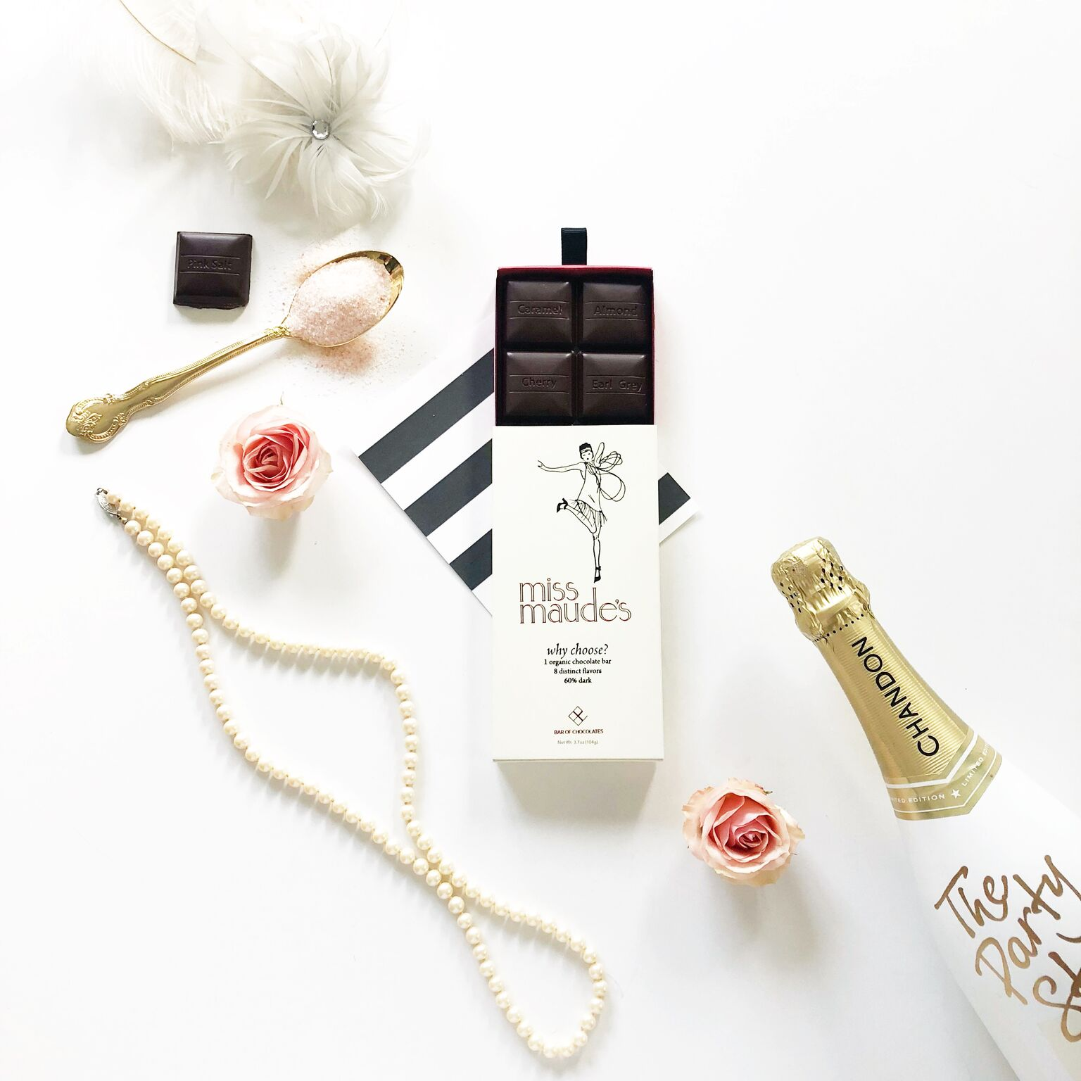 miss maude's - We loved adding a luxury touch to a chocolate bar that tastes luxurious!