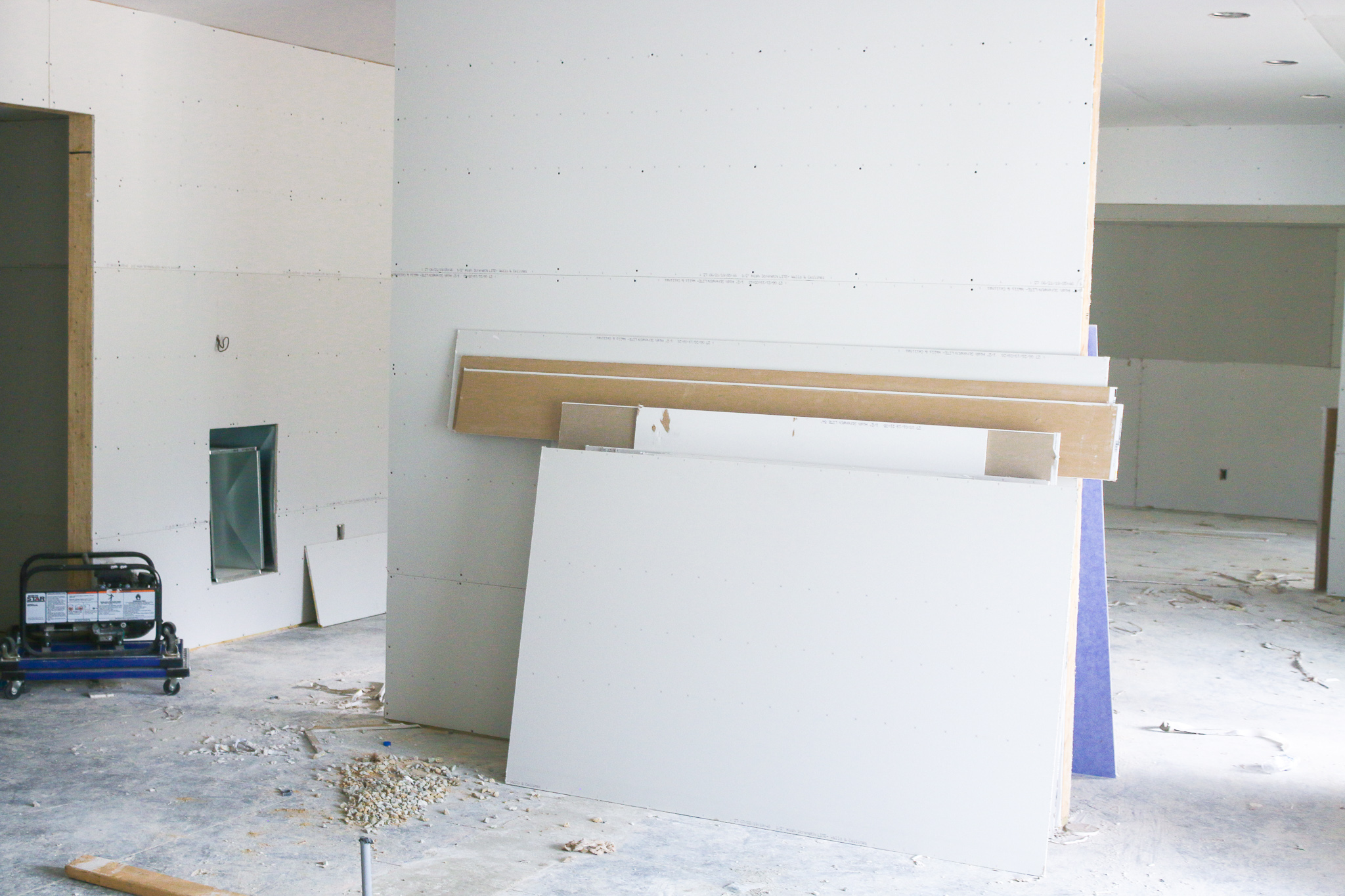 YAY! We have drywall! October can't come soon enough!