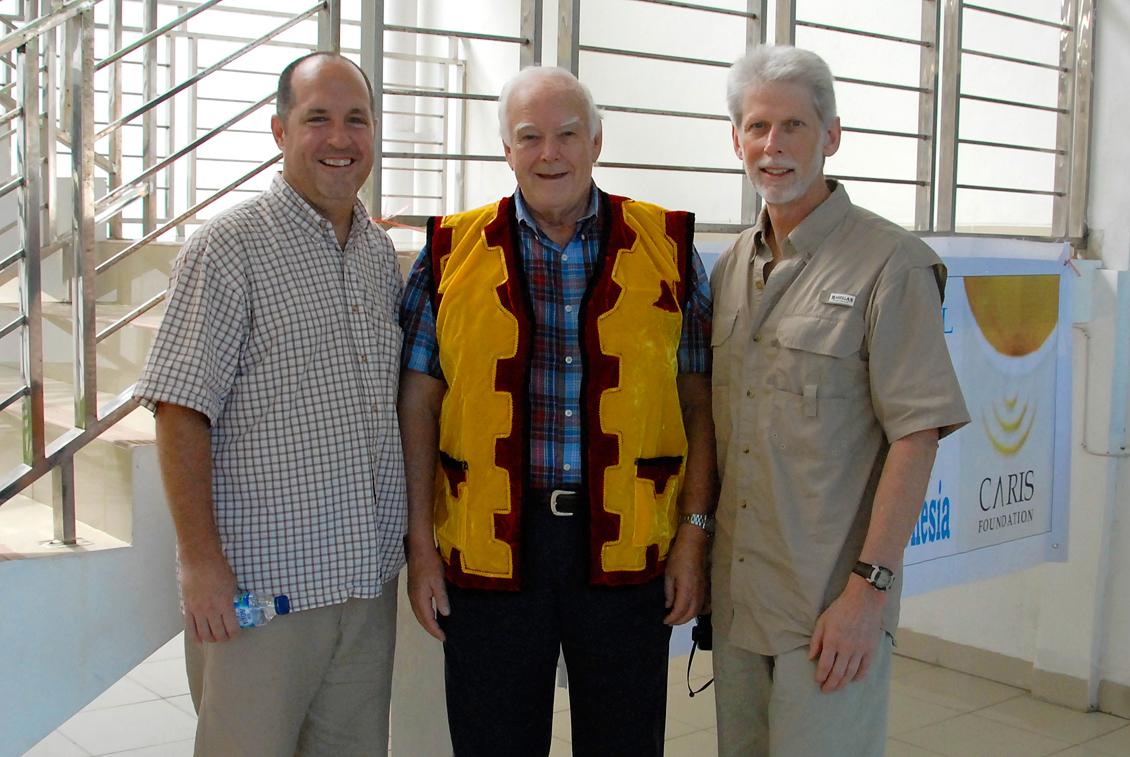 Danny Carrigan, John Bailey   and   Greg Smith at Gunug Sitoli Hospital, Nias Island, Indonesia.